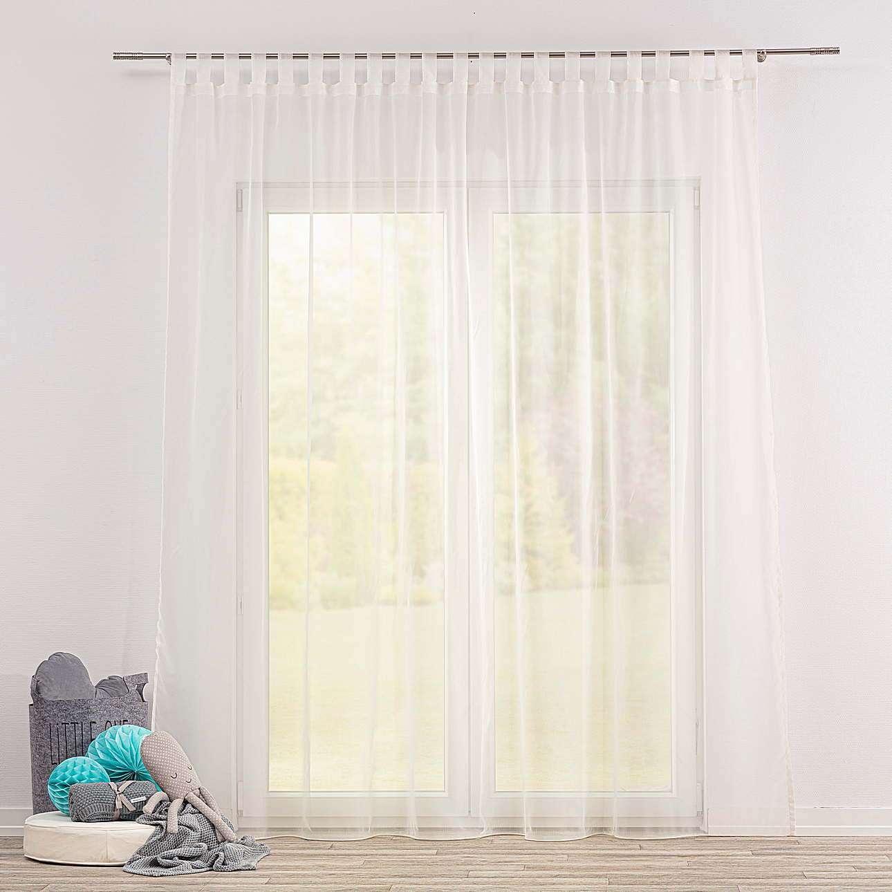 Voálová záclona na poutkách v kolekci Soft Veil, látka: 901-01