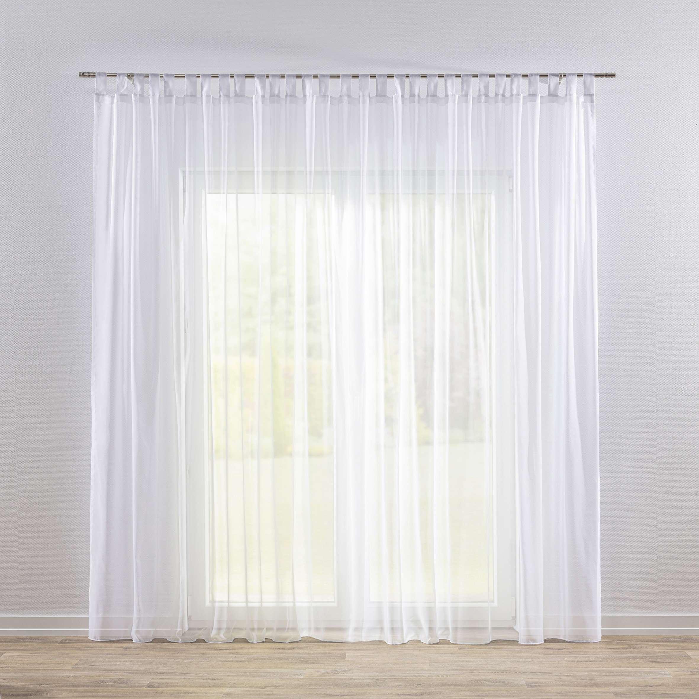 Záclona voálová jednoduchá na poutka na míru v kolekci Voile - Voál, látka: 901-00