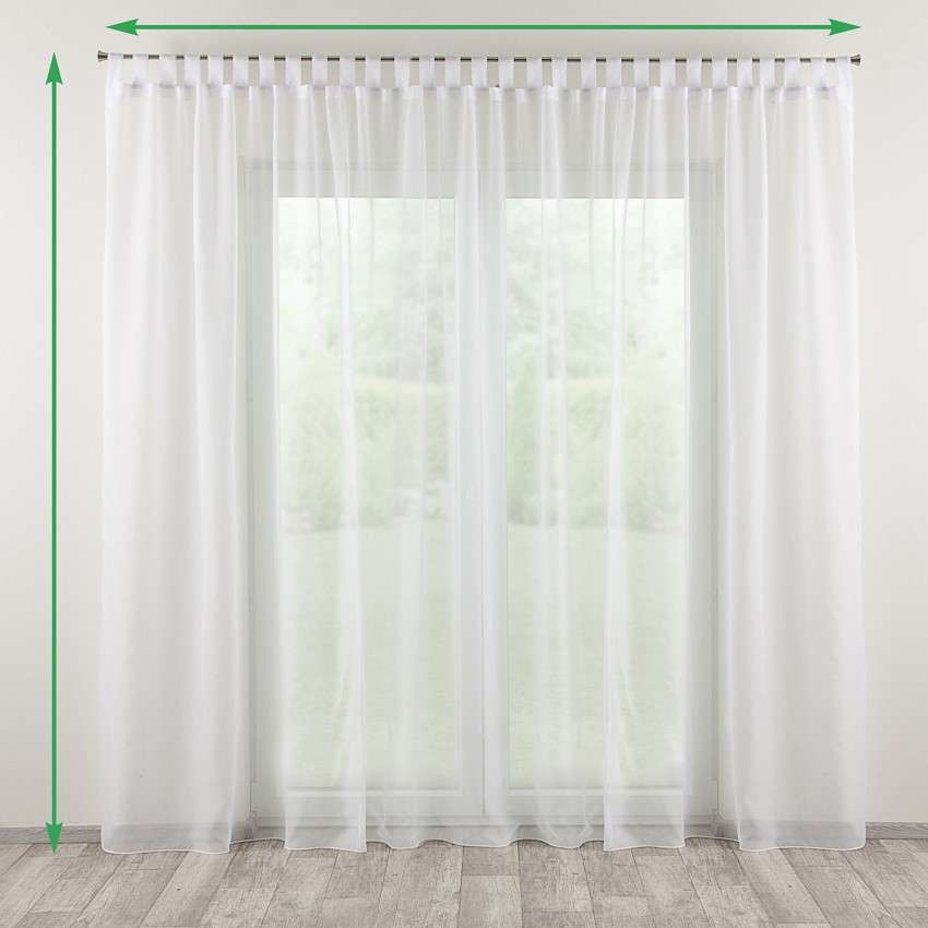 Tab top net curtains in collection Net Curtains (Firany), fabric: 650-10