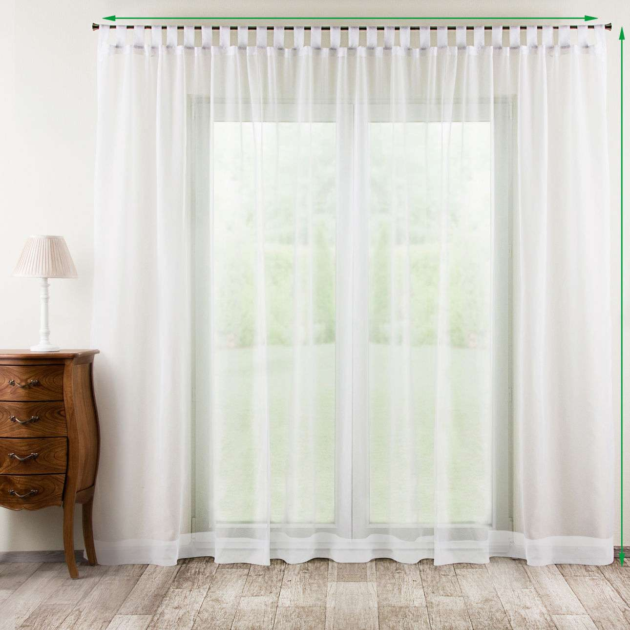 Tab top voile/net curtains in collection Voile, fabric: 900-00