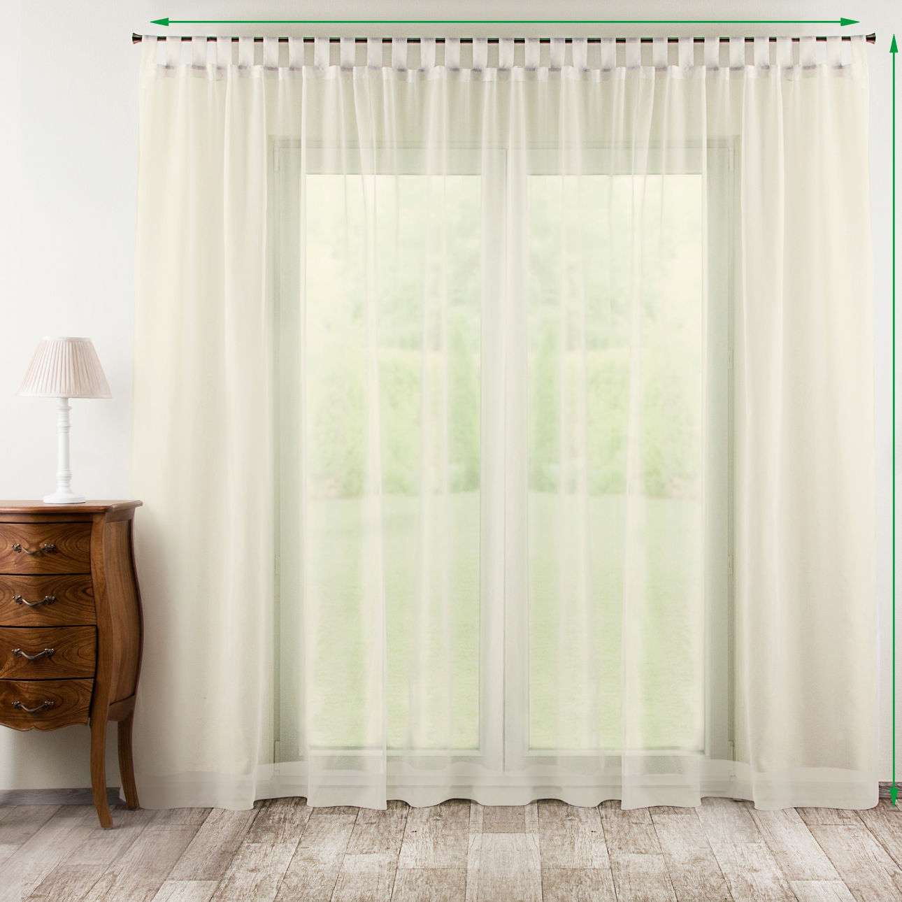 Tab top voile/net curtains in collection Voile, fabric: 900-01