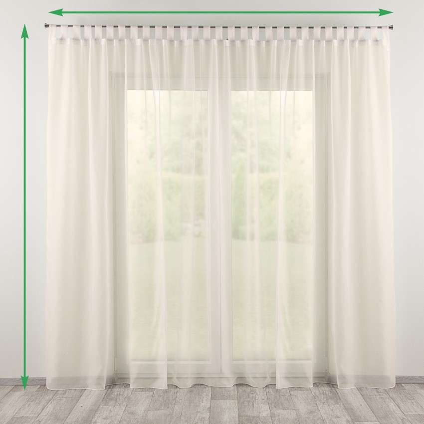 Tab top voile/net curtains in collection Voile, fabric: 901-01