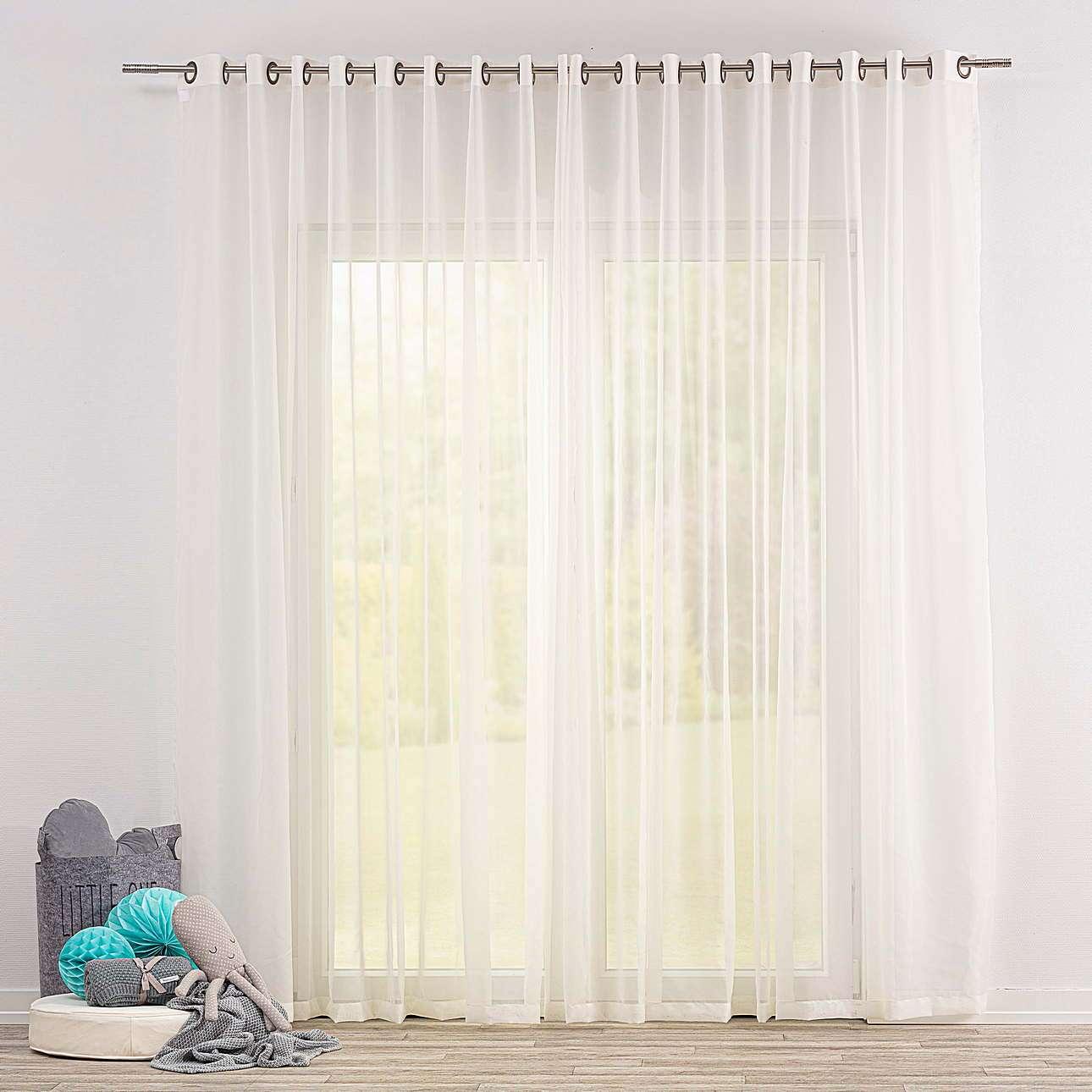 Gardine mit Ösen von der Kollektion Soft Veil, Stoff: 900-01