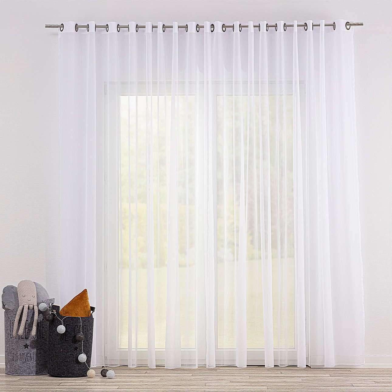 Gardine mit Ösen von der Kollektion Soft Veil, Stoff: 901-00