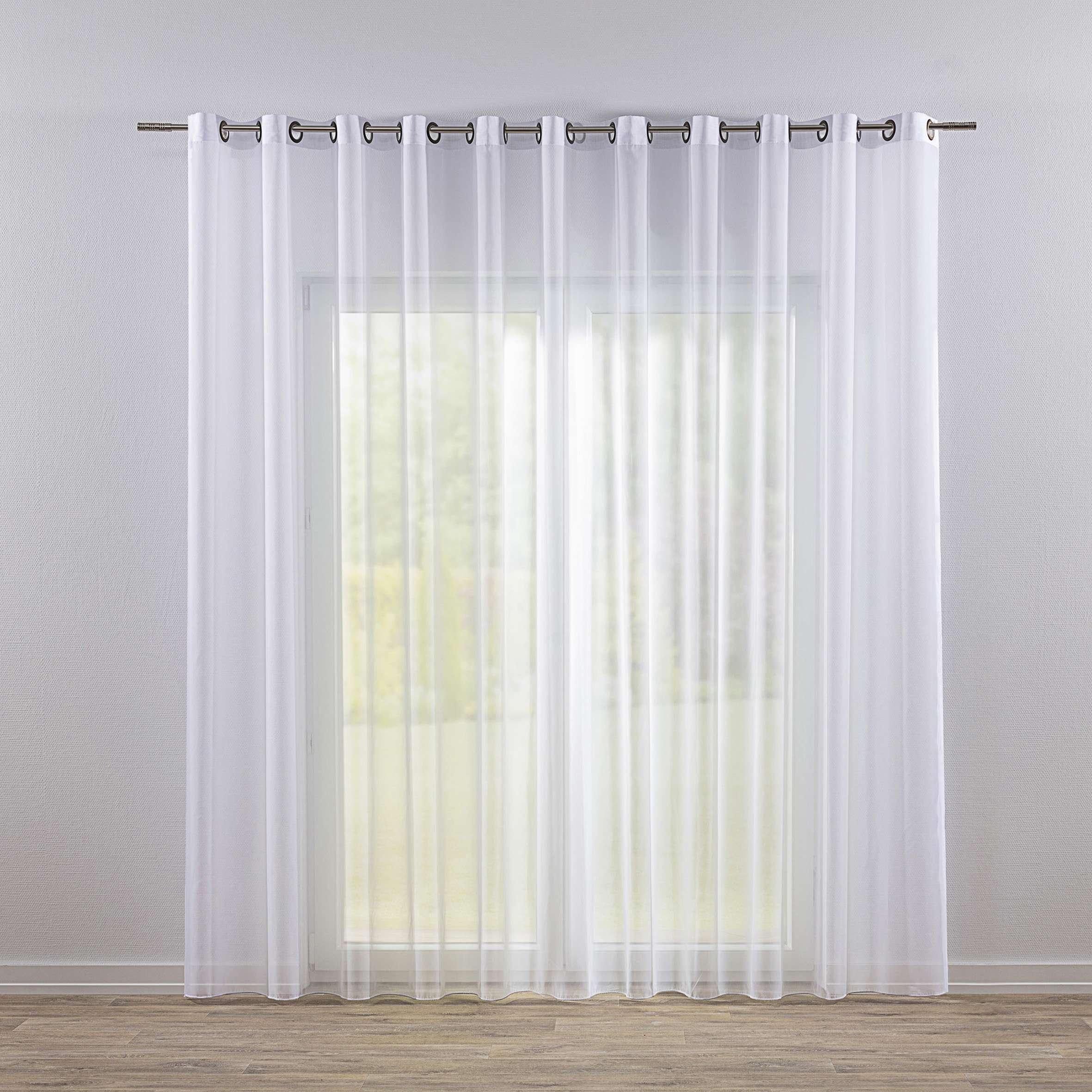 Záclona voálová jednoduchá na kroužcích na míru v kolekci Voile - Voál, látka: 901-00