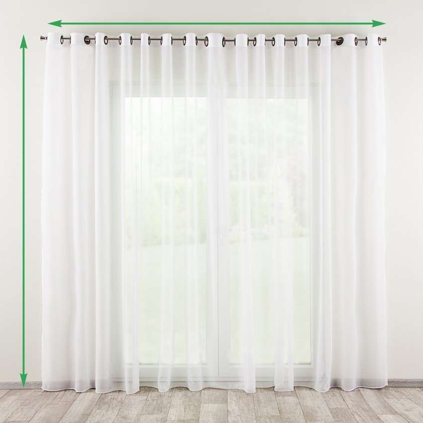 Eyelet net curtains in collection Voile, fabric: 901-00
