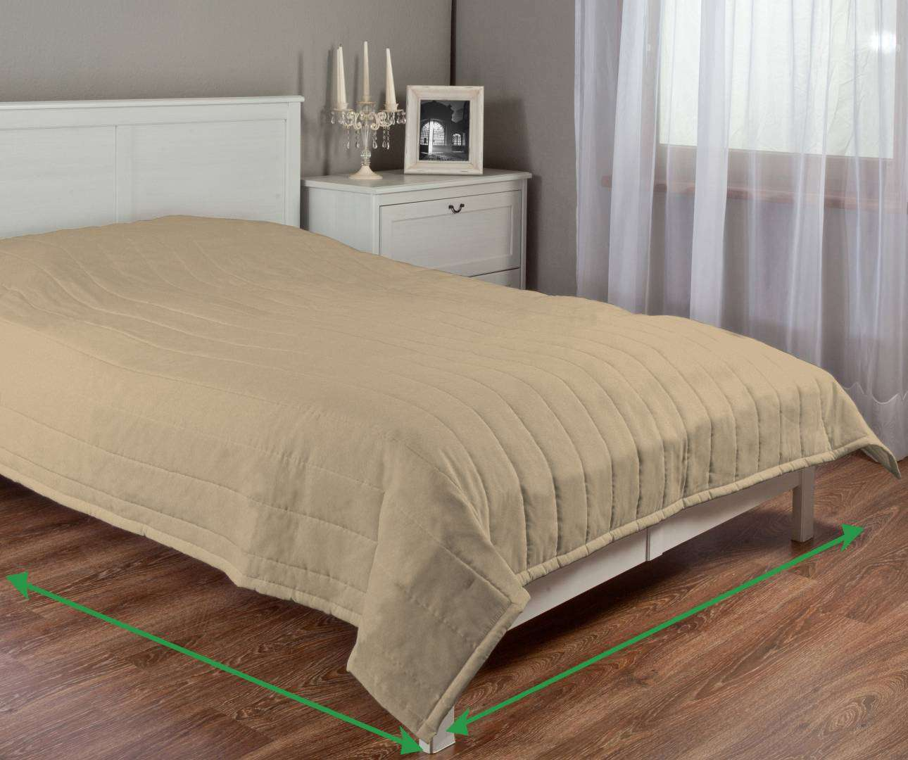 Stripe quilted throw in collection Living, fabric: 100-72