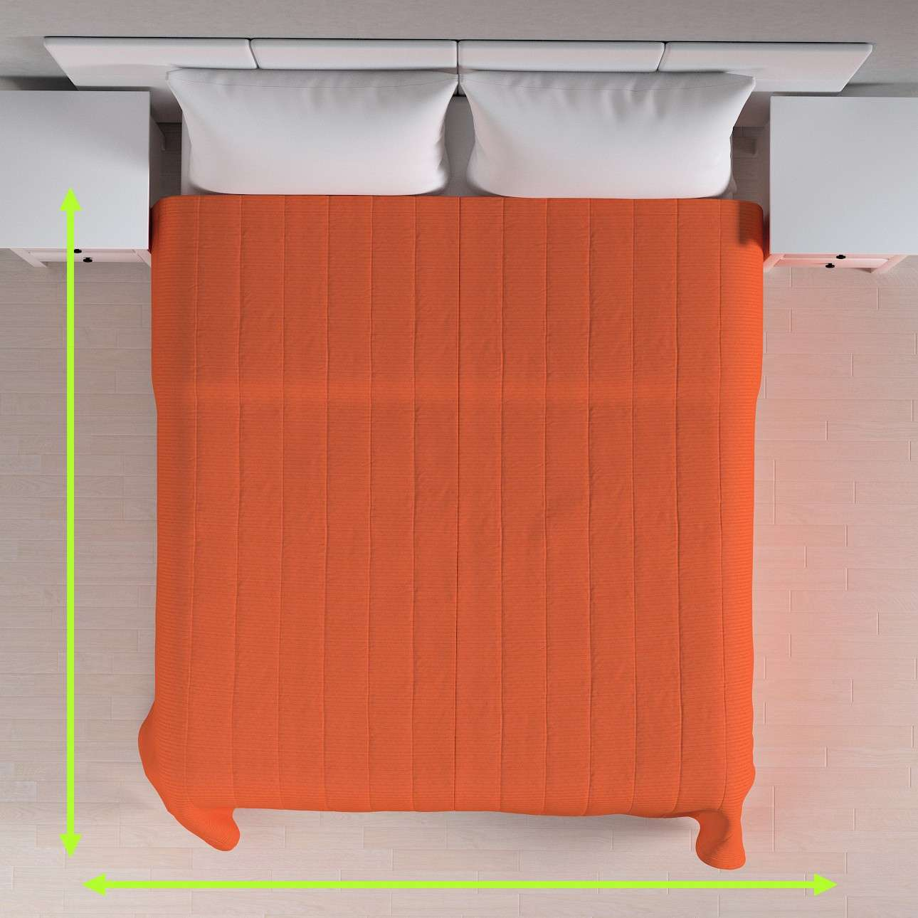 Sengeteppe quiltet<br/>10cm striper fra kolleksjonen Jupiter, Stoffets bredde: 127-35