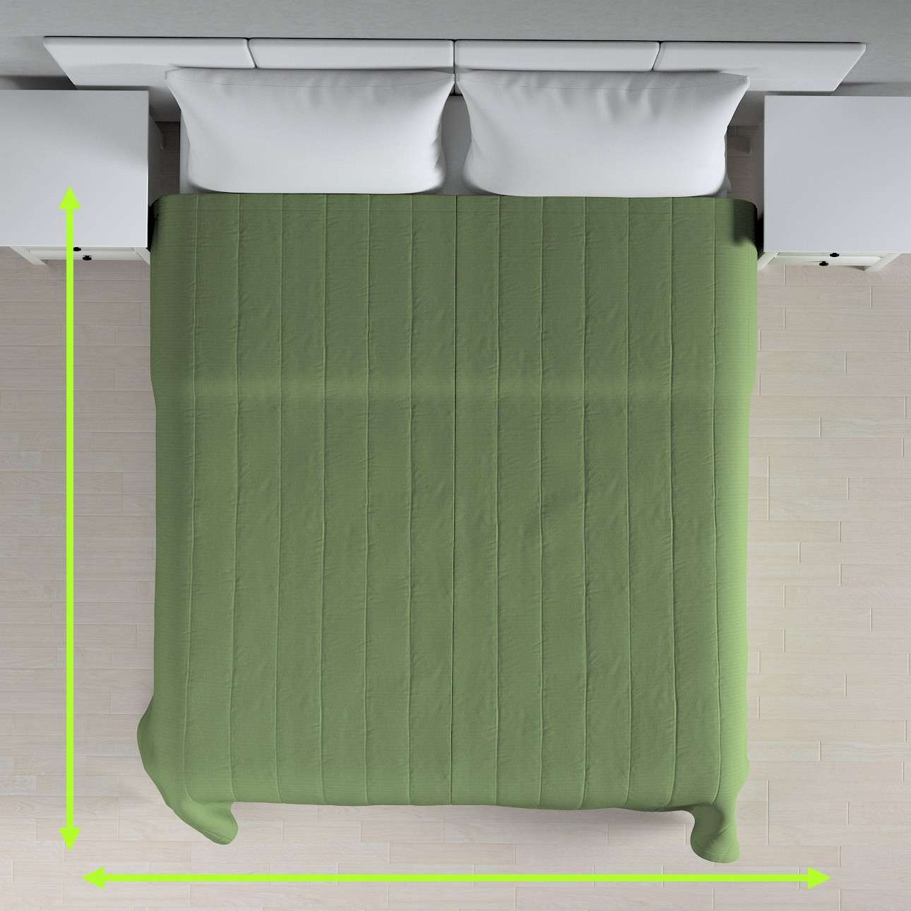 Sengetæppe quiltet<br/>10cm striber fra kollektionen Jupiter, Stof: 127-52