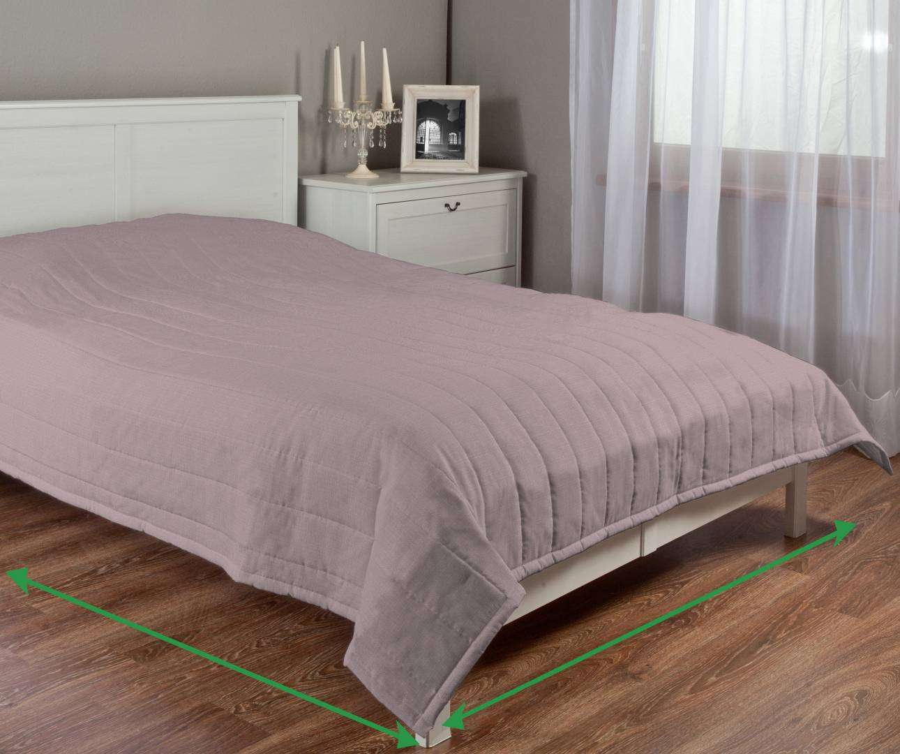 Quilted throw (vertical quilt pattern) in collection Granada, fabric: 104-75