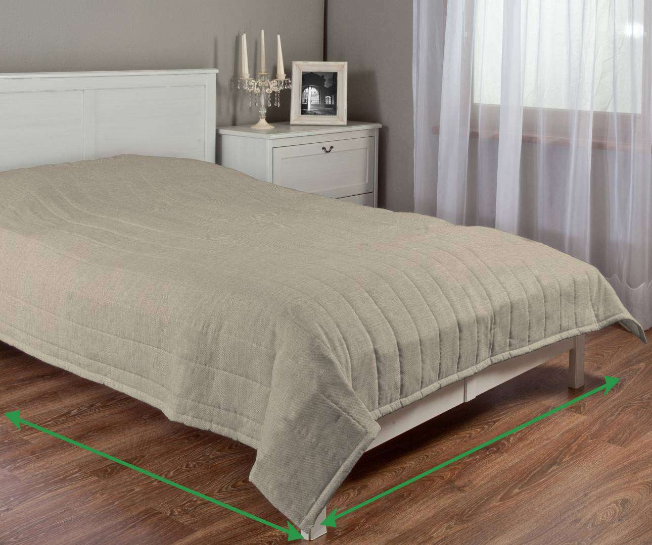 Stripe quilted throw in collection Living, fabric: 104-87