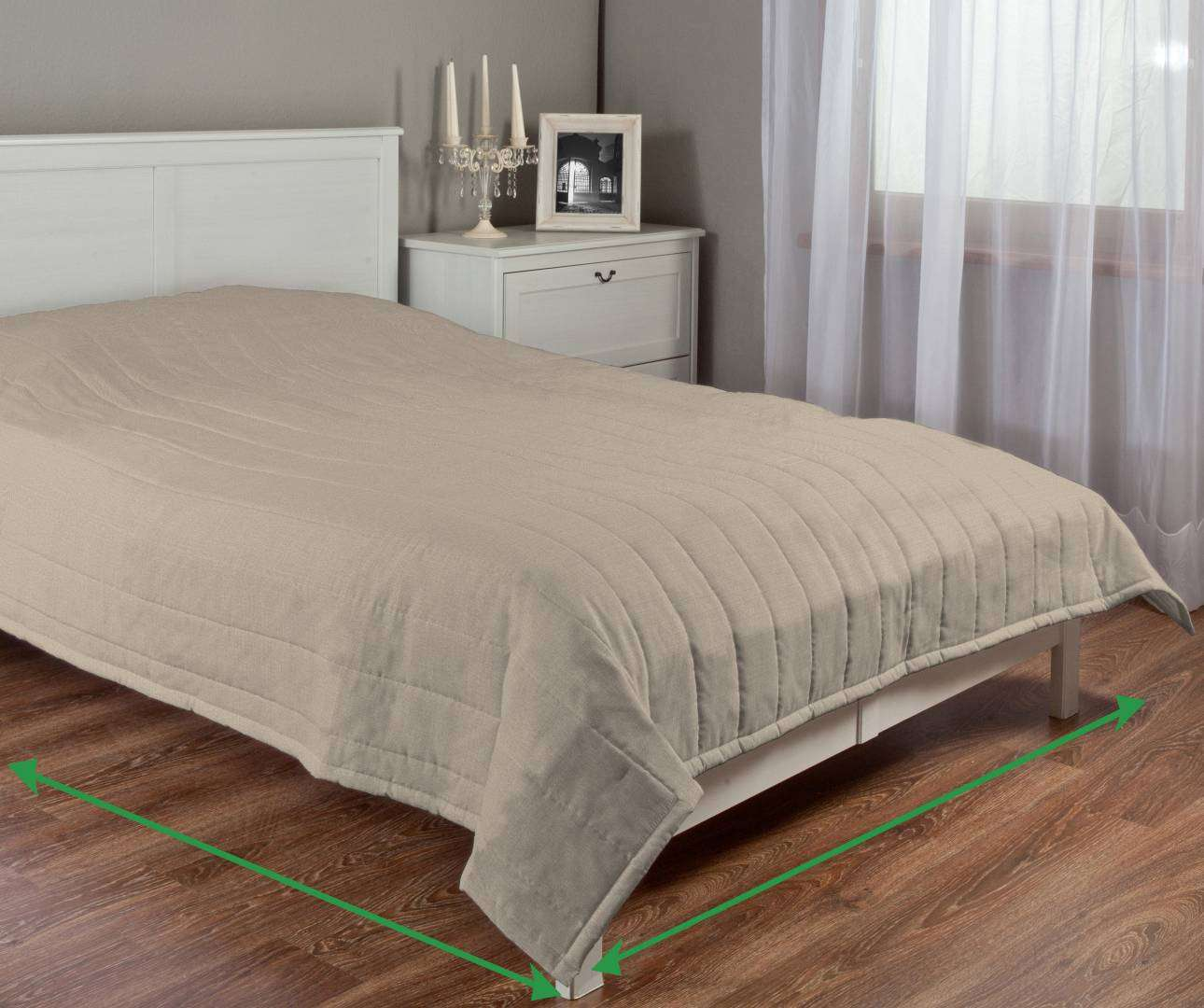 Stripe quilted throw in collection Living, fabric: 104-88