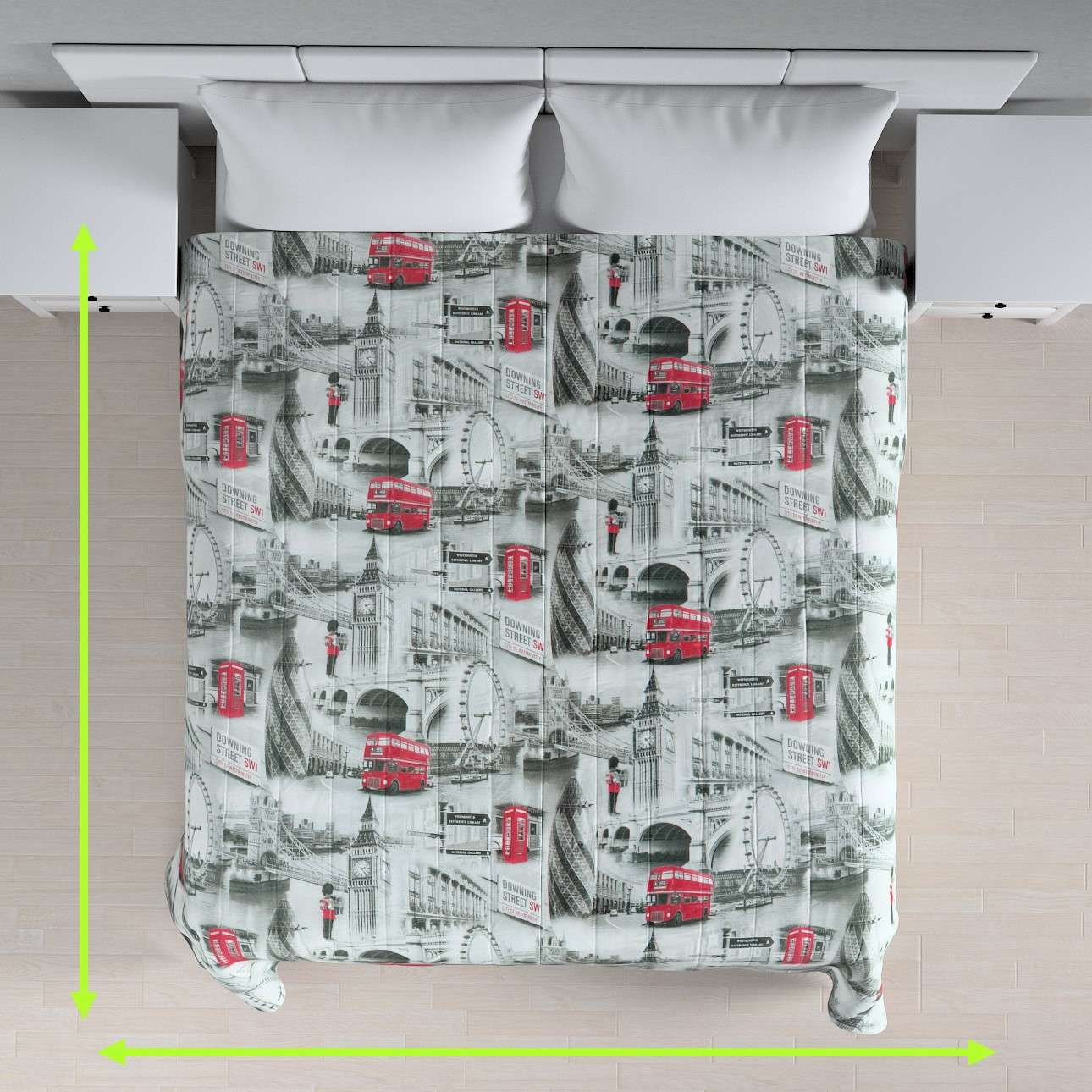 Quilted throw (vertical quilt pattern) in collection Comic Book & Geo Prints, fabric: 111-04