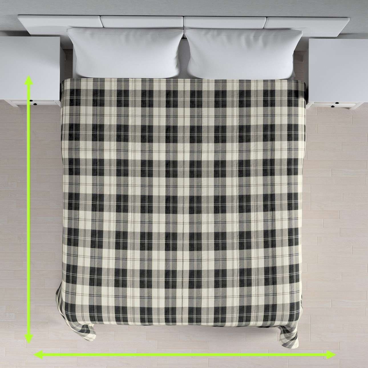 Quilted throw (vertical quilt pattern) in collection Edinburgh, fabric: 115-74