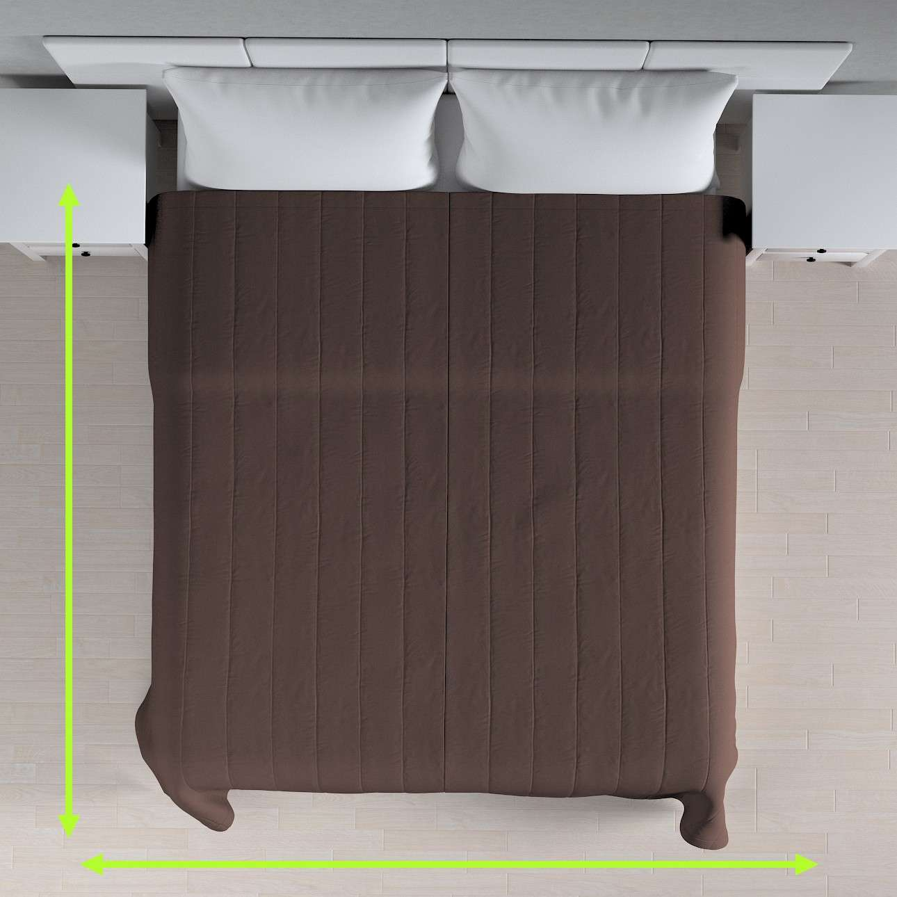 Přehoz s podélným prošitím v kolekci Cotton Panama, látka: 702-03