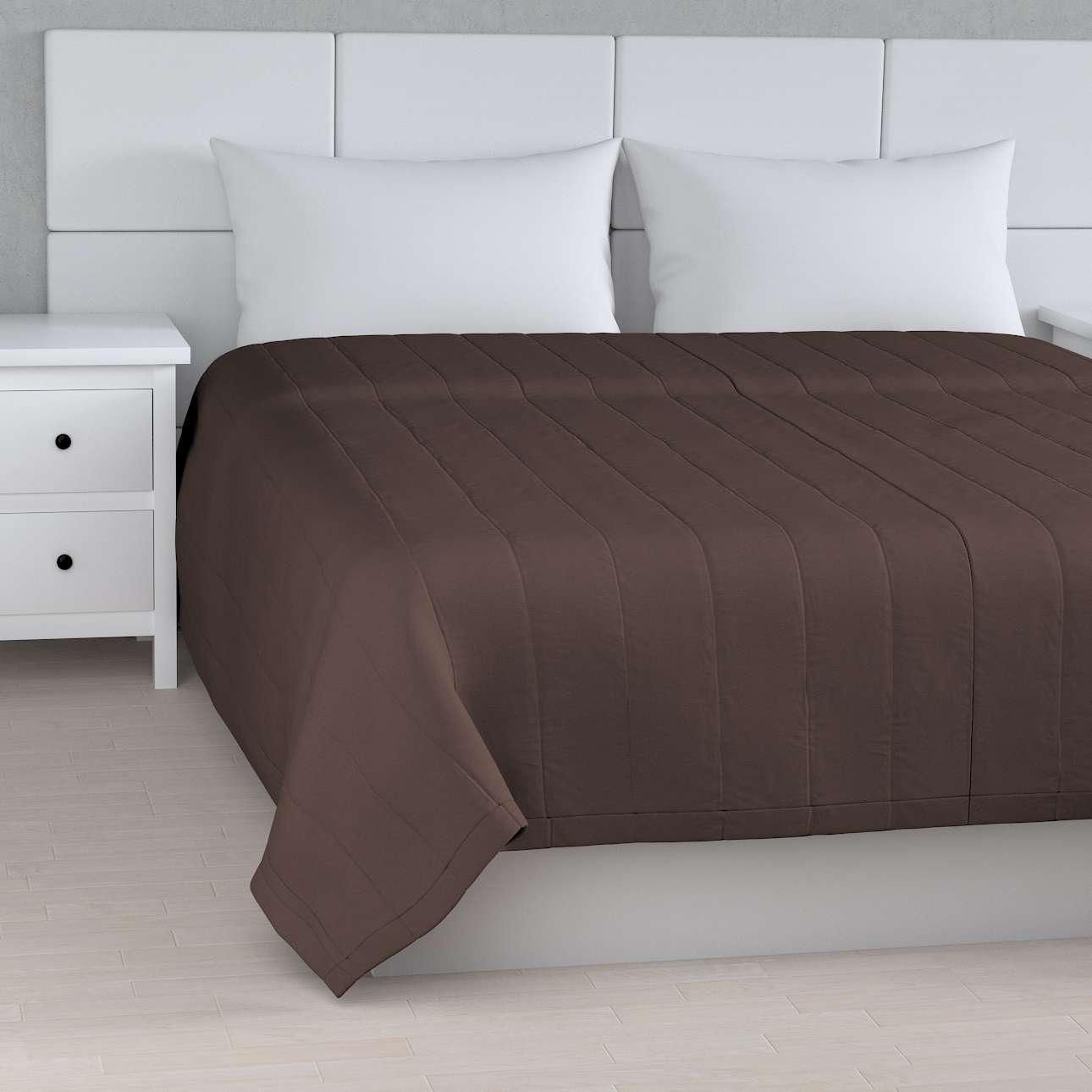 Sengetæppe quiltet<br/>10cm striber fra kollektionen Cotton Panama, Stof: 702-03