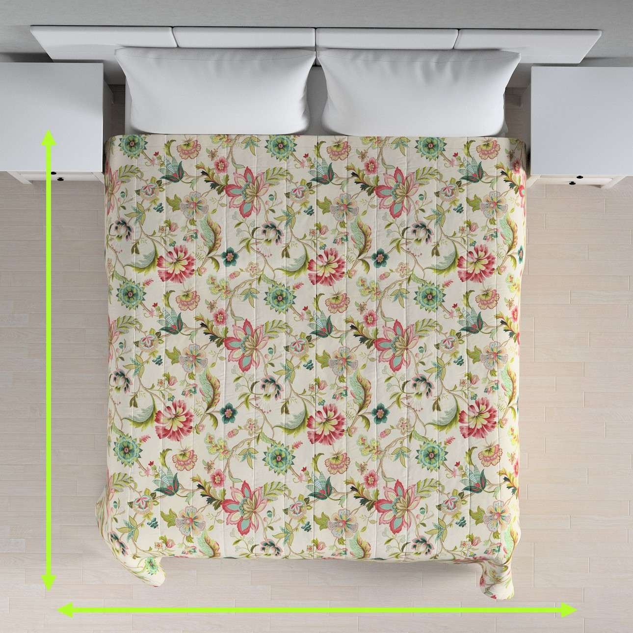 Quilted throw (vertical quilt pattern) in collection Londres, fabric: 122-00
