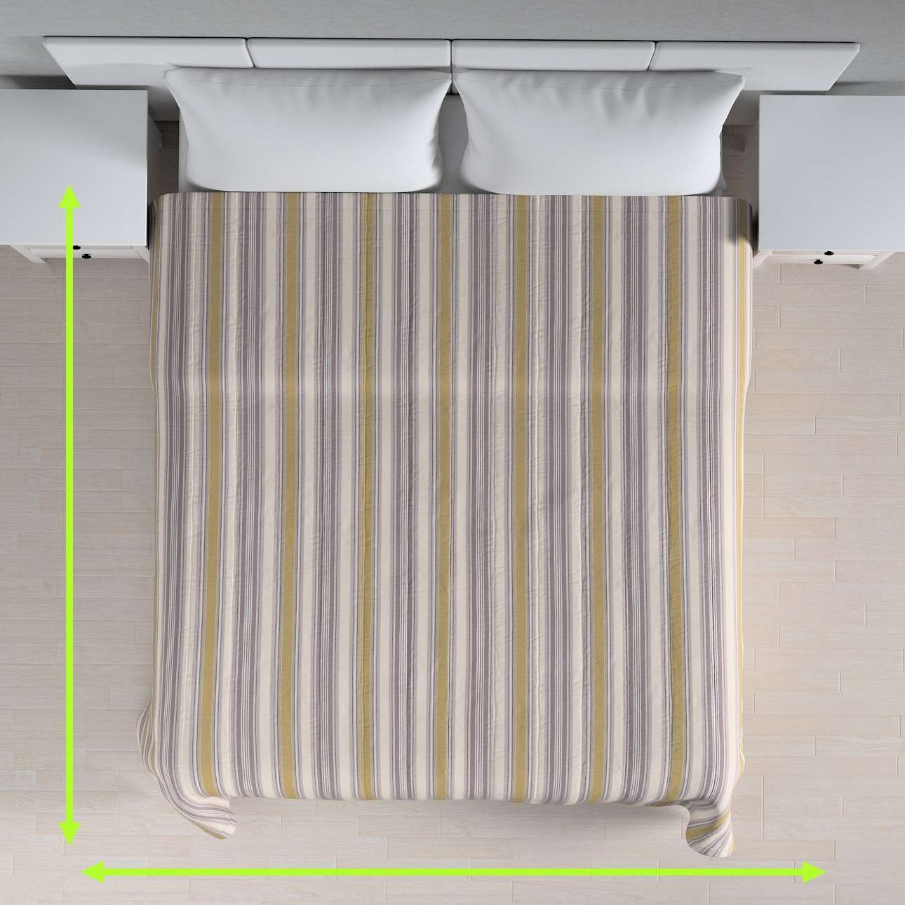 Stripe quilted throw in collection Londres, fabric: 122-06