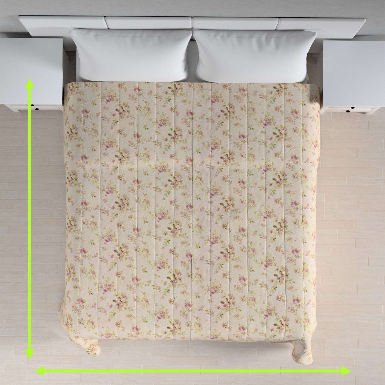 Quilted throw (vertical quilt pattern) in collection Londres, fabric: 122-07