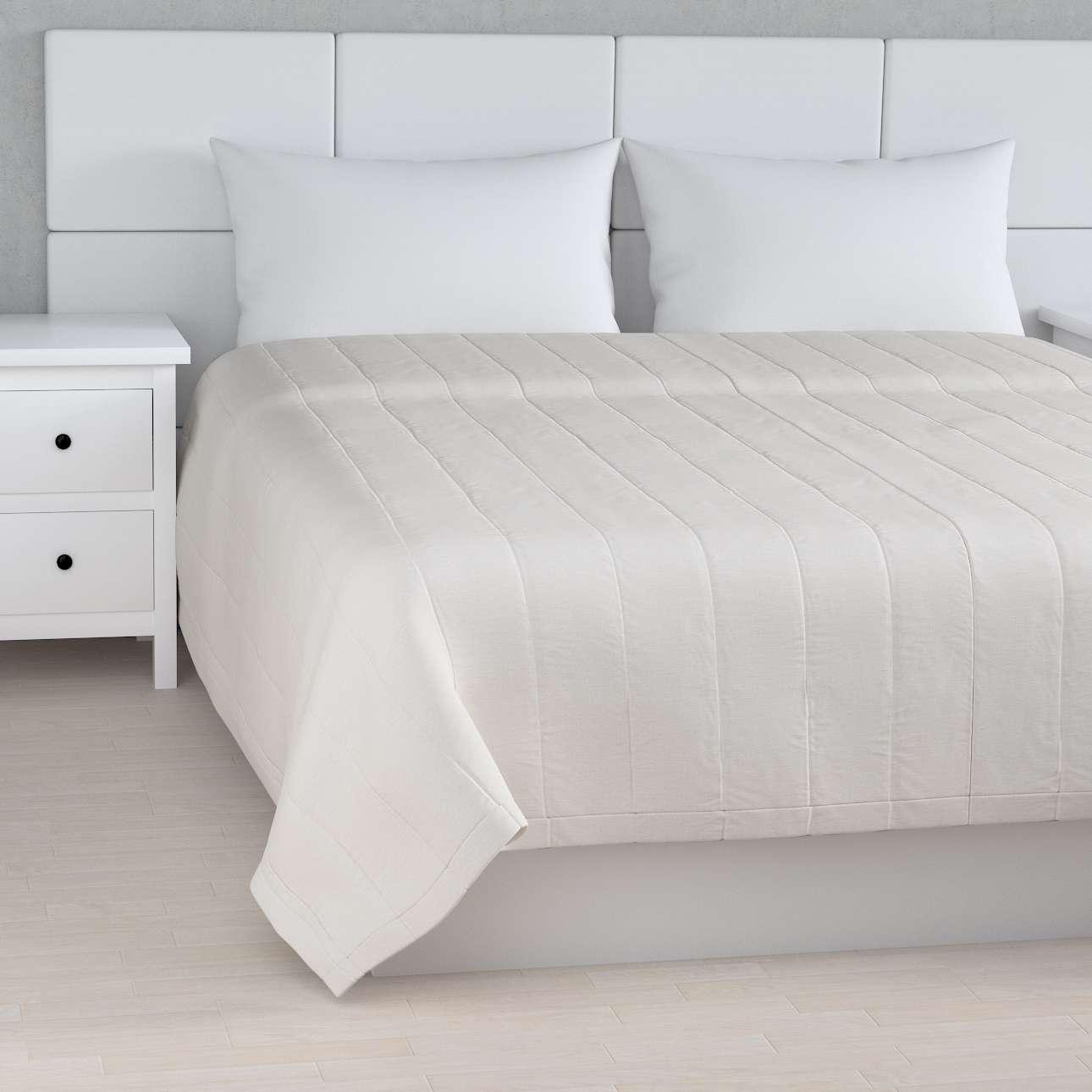 Narzuta pikowana w pasy w kolekcji Linen, tkanina: 392-04