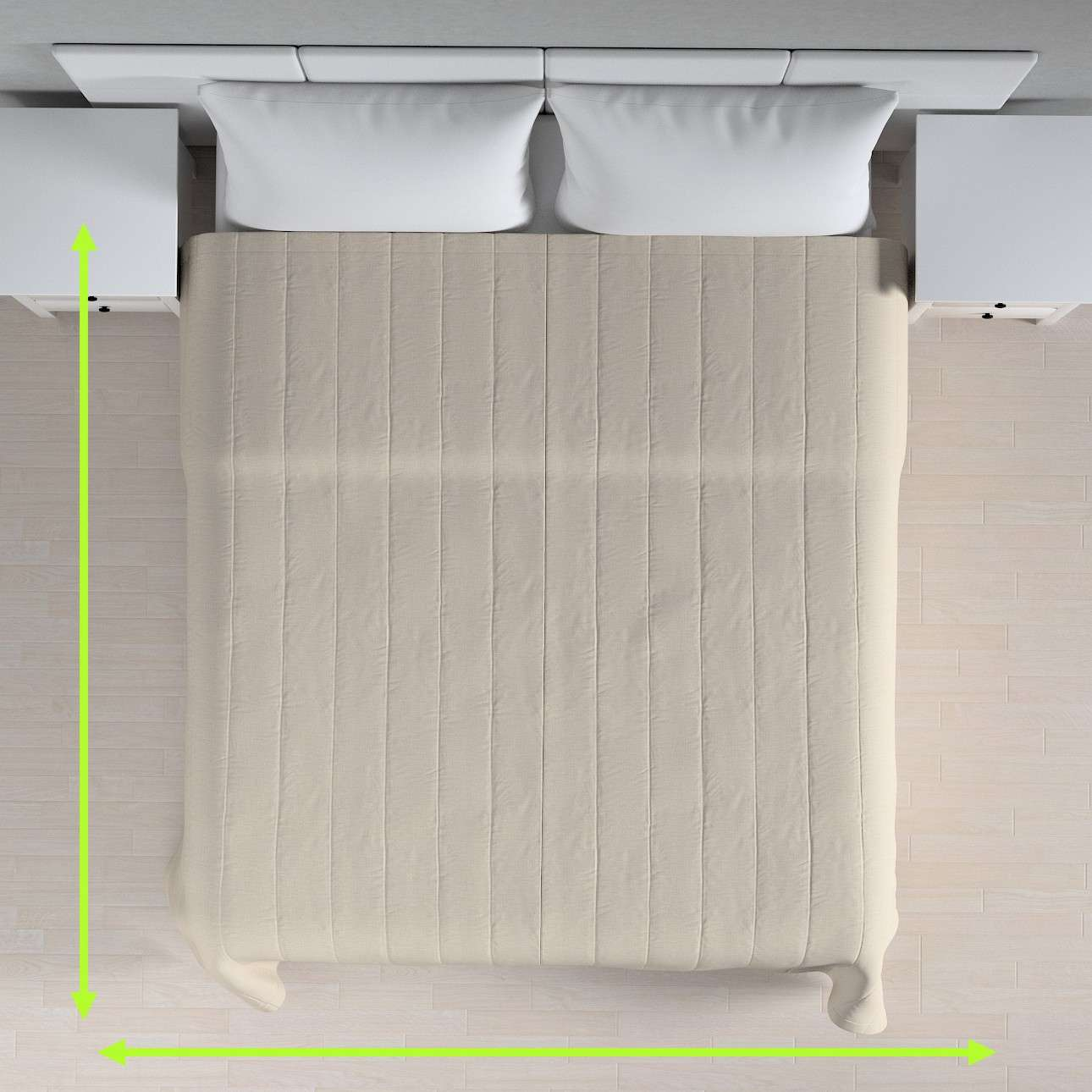 Päiväpeitto tikattu raidat mallistosta Linen, Kangas: 392-05