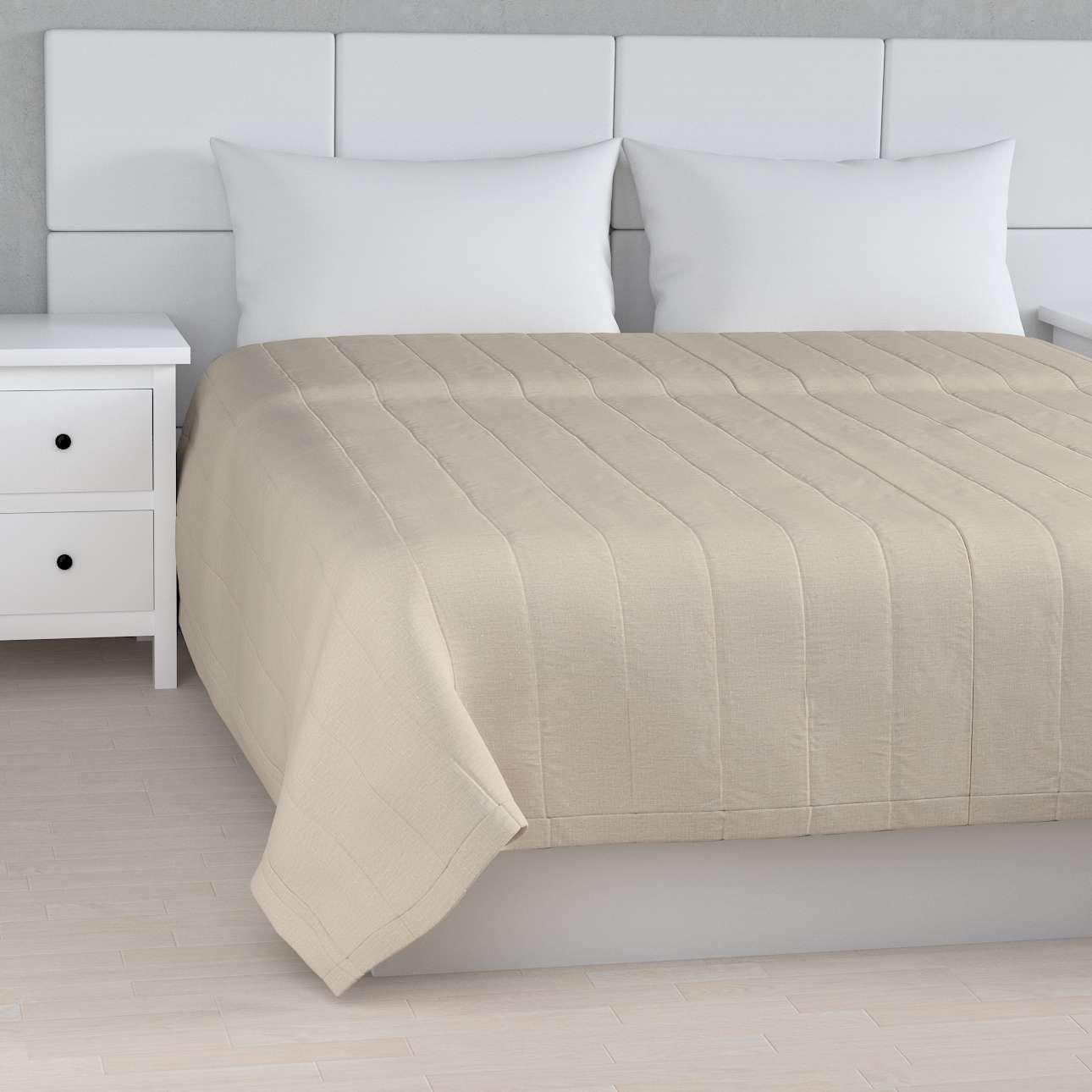 Tagesdecke mit Streifen-Steppung von der Kollektion Leinen, Stoff: 392-05