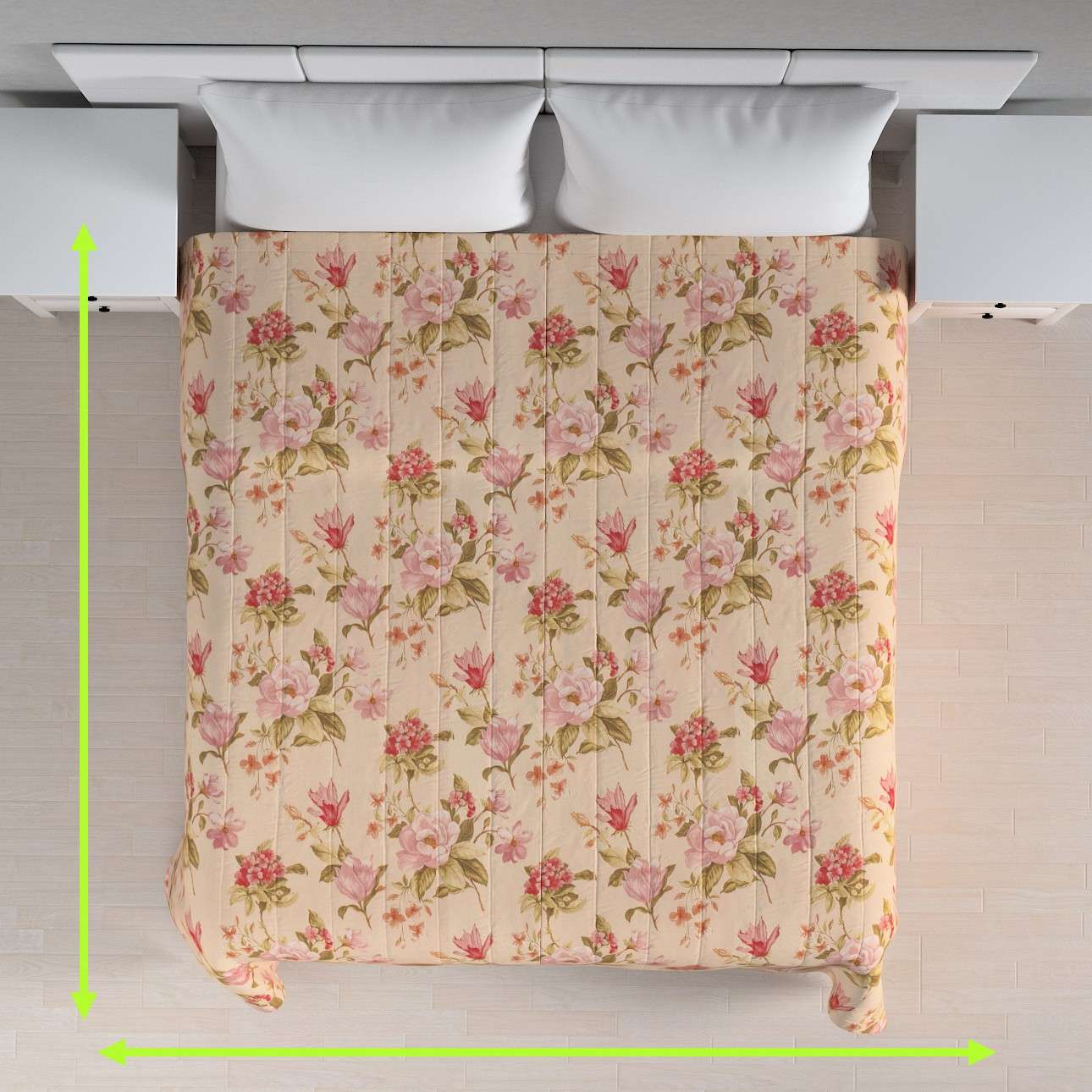 Quilted throw (vertical quilt pattern) in collection Londres, fabric: 123-05