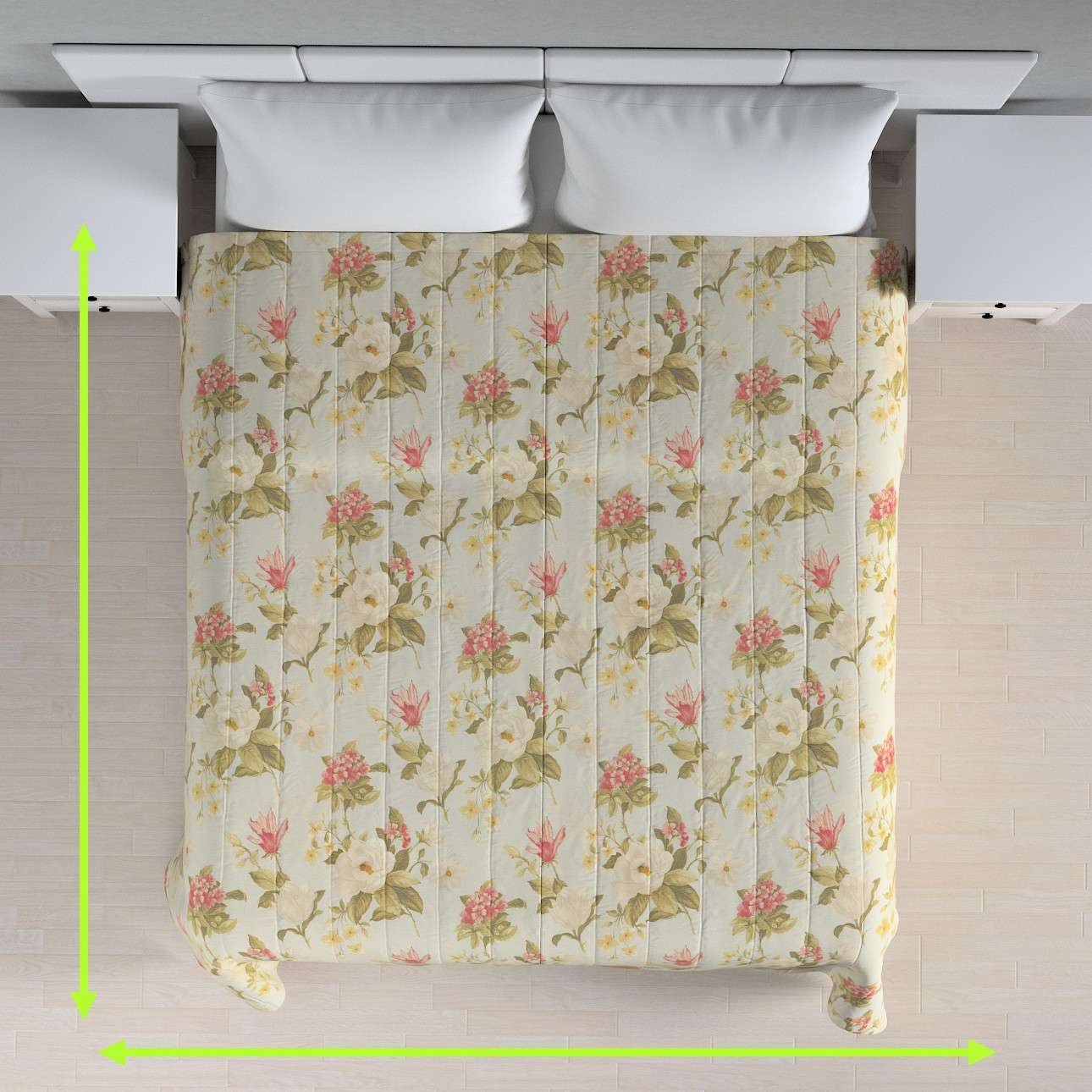 Quilted throw (vertical quilt pattern) in collection Londres, fabric: 123-65