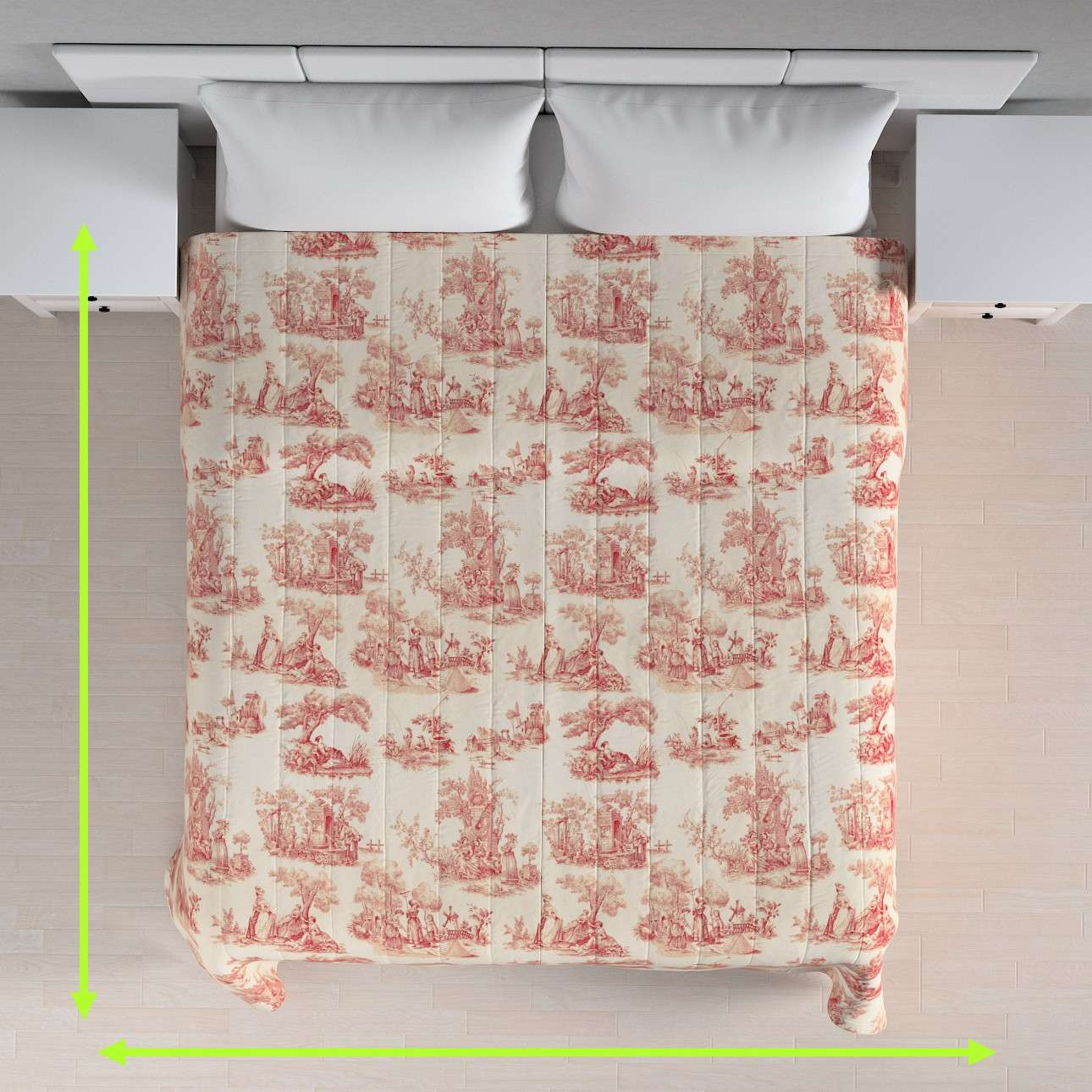 Quilted throw (vertical quilt pattern) in collection Avinon, fabric: 132-15