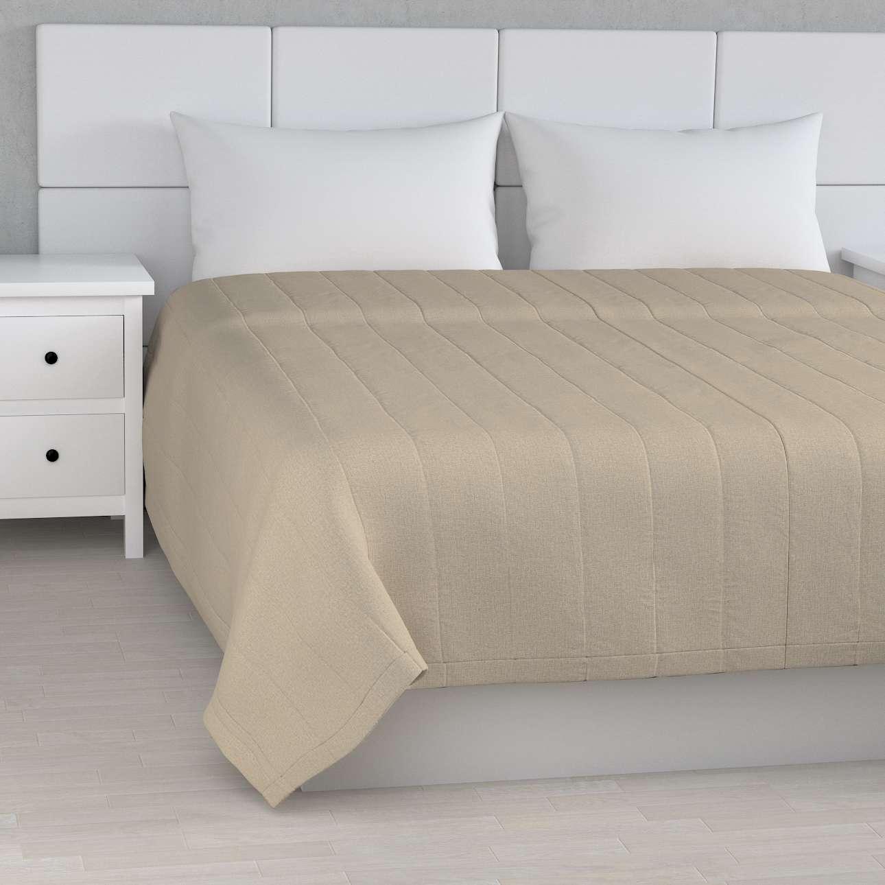 Sengetæppe quiltet<br/>10cm striber fra kollektionen Edinburgh, Stof: 115-78