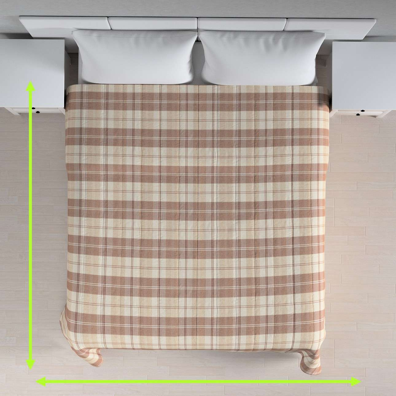 Stripe quilted throw in collection Edinburgh, fabric: 115-80