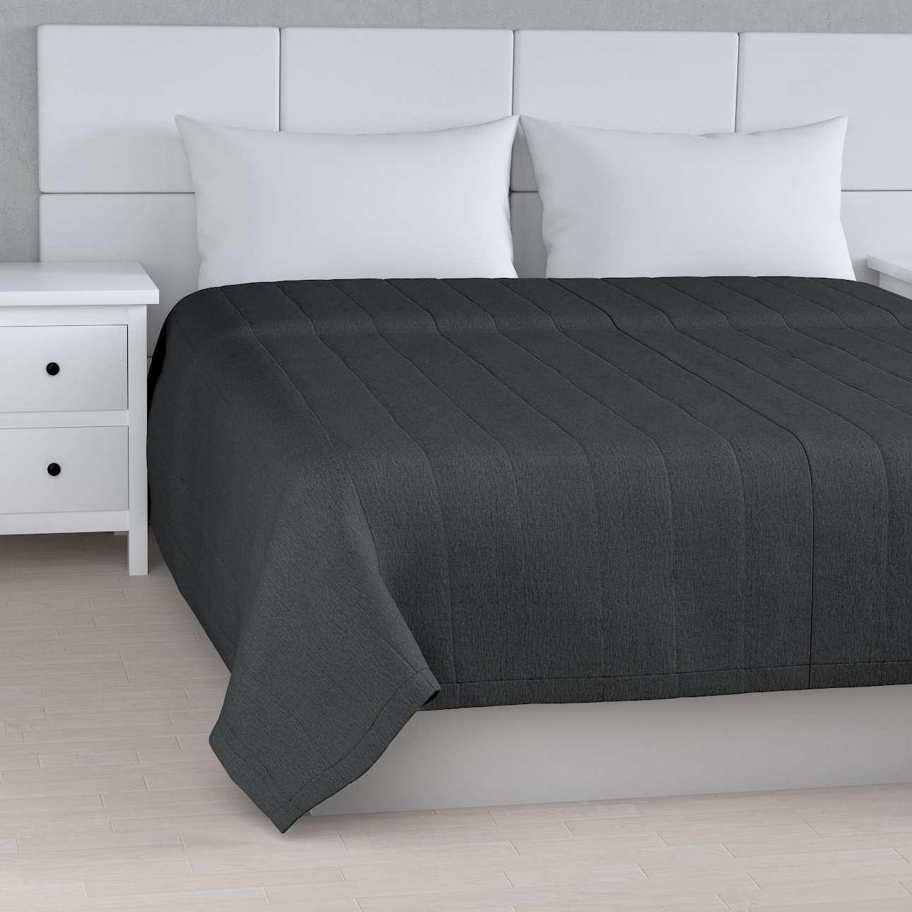 Sengetæppe quiltet<br/>10cm striber fra kollektionen Chenille, Stof: 702-20