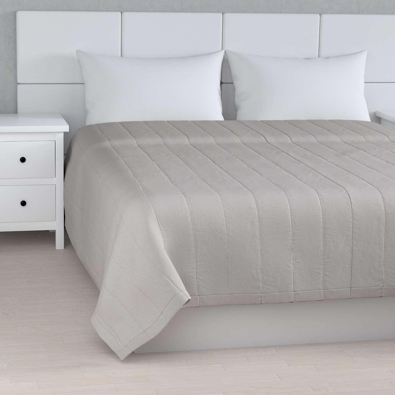 Sengetæppe quiltet<br/>10cm striber fra kollektionen Chenille, Stof: 702-23