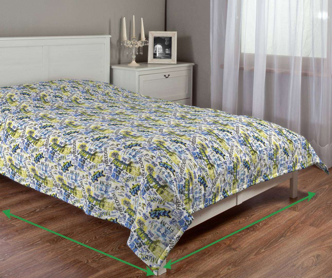 Quilted throw (vertical quilt pattern) in collection Freestyle, fabric: 135-08