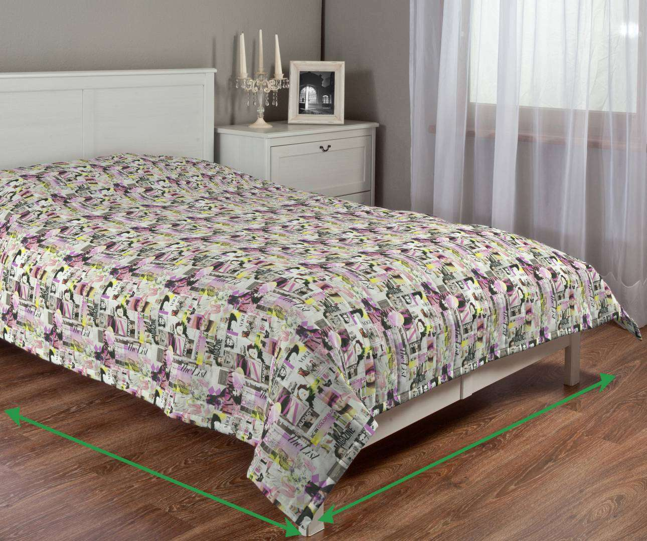 Quilted throw (vertical quilt pattern) in collection Freestyle, fabric: 135-15