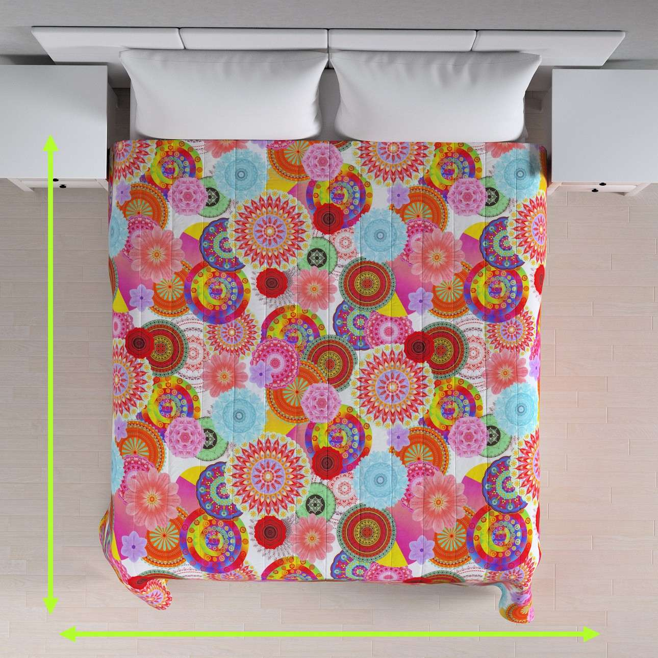 Quilted throw (vertical quilt pattern) in collection Comic Book & Geo Prints, fabric: 135-22