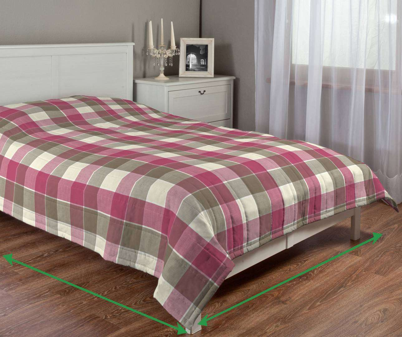 Quilted throw (vertical quilt pattern) in collection Cardiff, fabric: 136-31