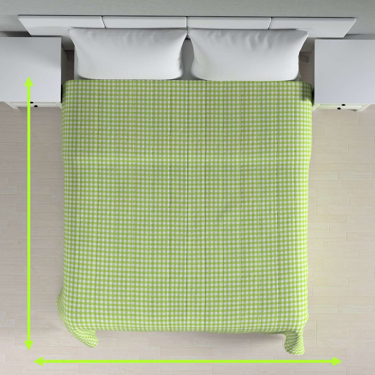 Quilted throw (vertical quilt pattern) in collection Quadro, fabric: 136-34