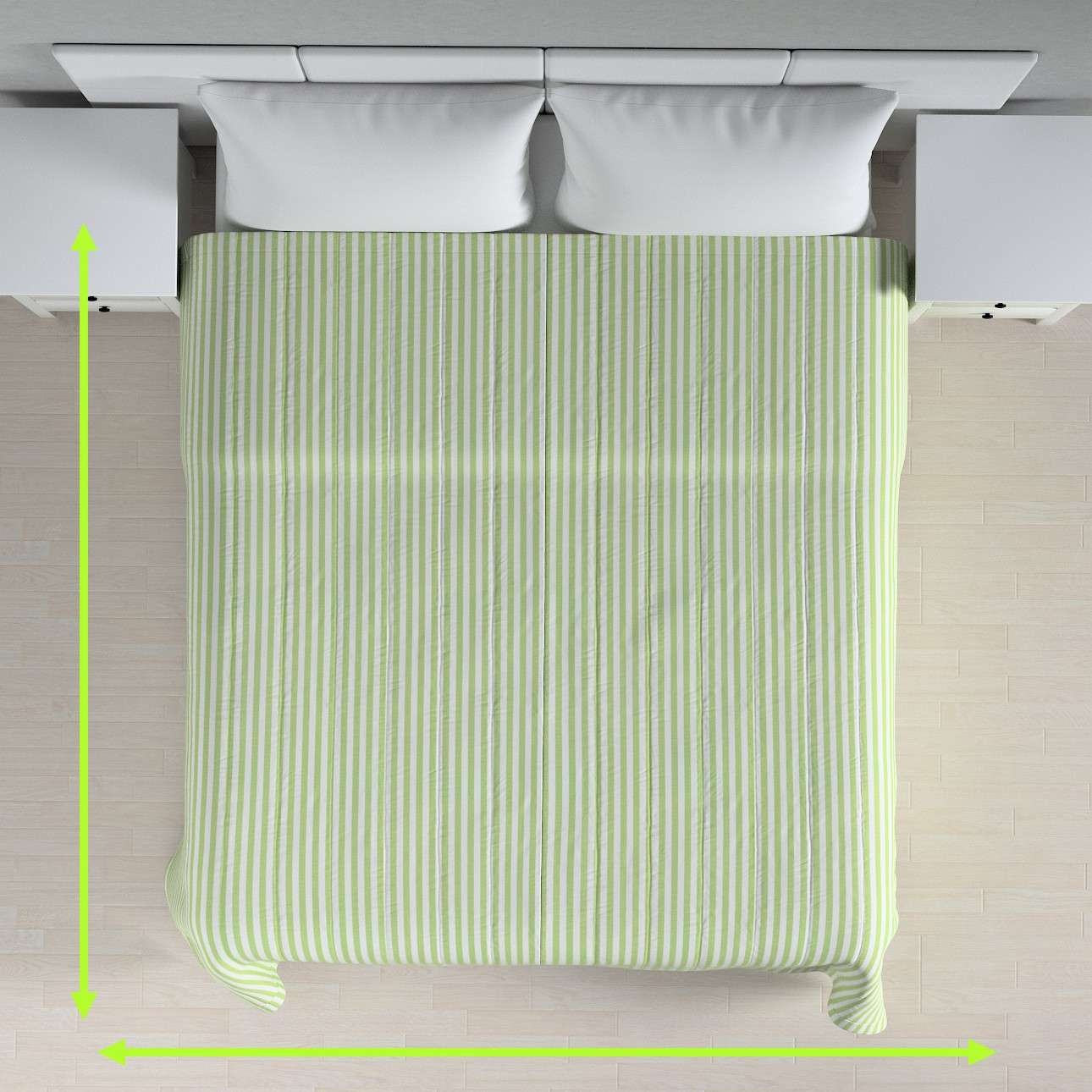 Stripe quilted throw in collection Quadro, fabric: 136-35