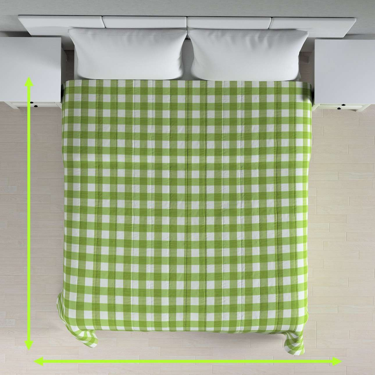 Quilted throw (vertical quilt pattern) in collection Quadro, fabric: 136-36