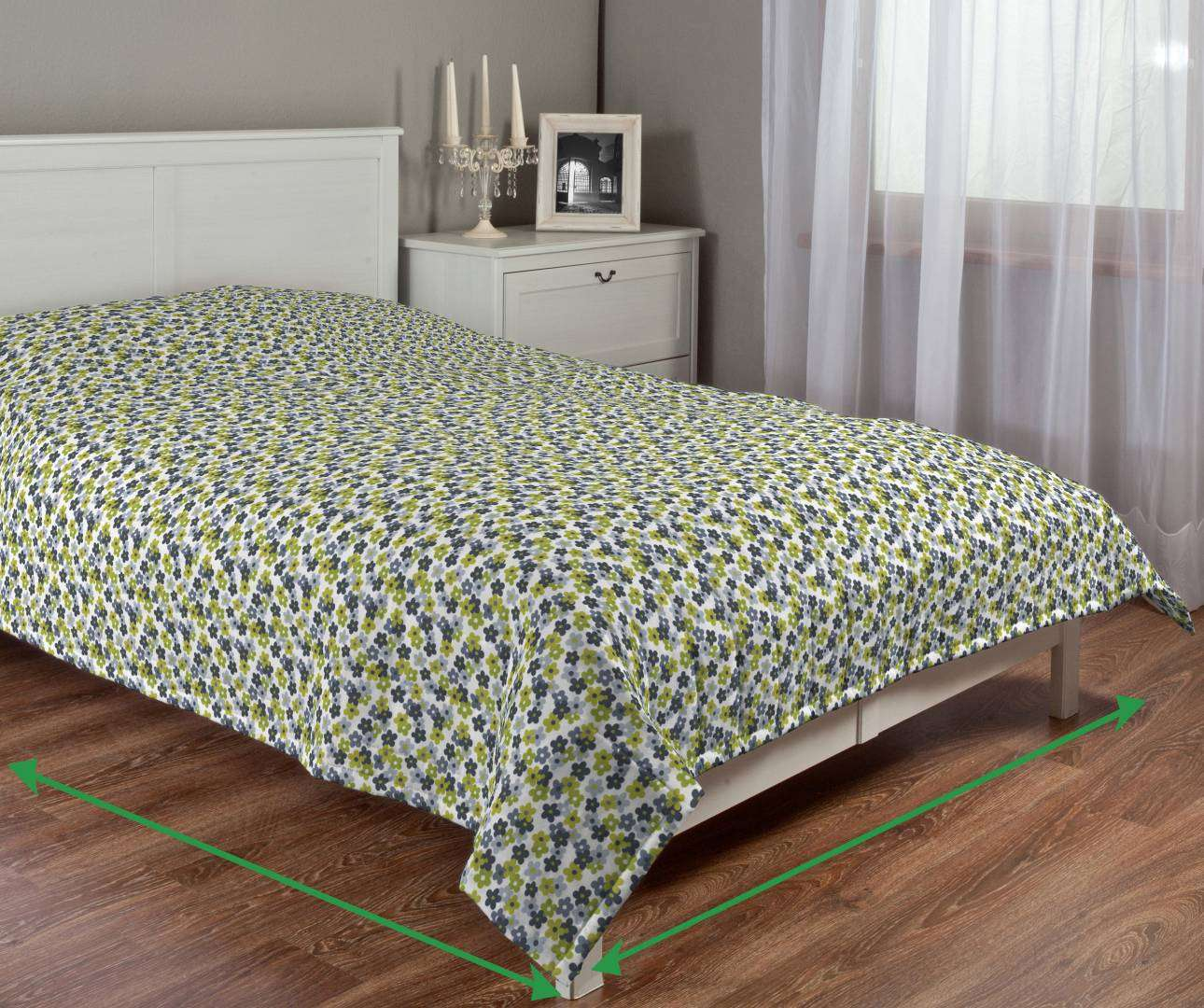 Quilted throw (vertical quilt pattern) in collection Fleur , fabric: 137-56