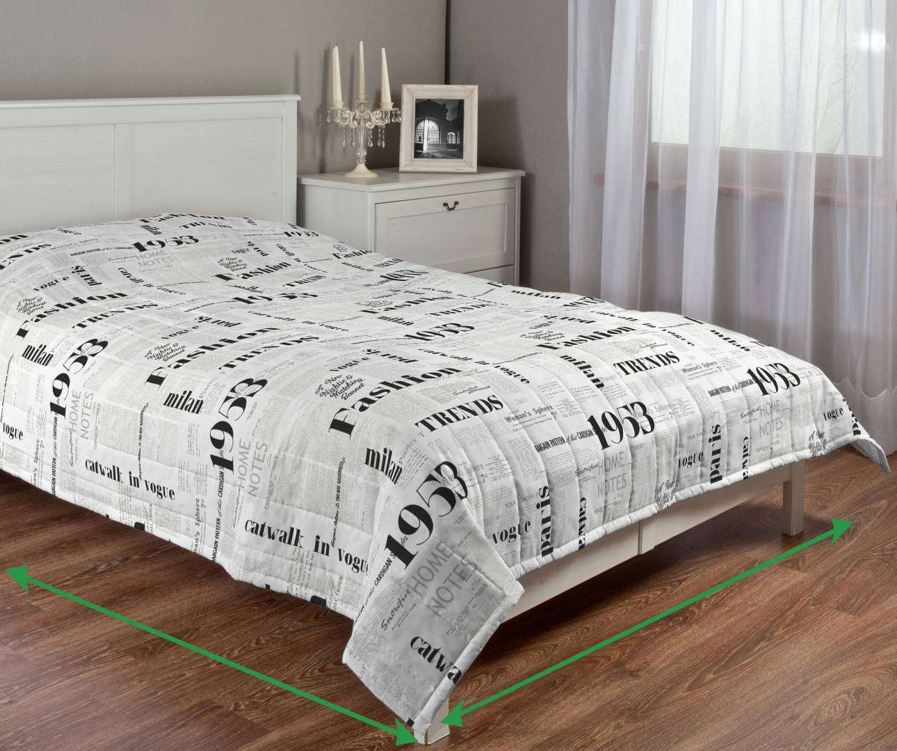 Quilted throw (vertical quilt pattern) in collection Freestyle, fabric: 137-60