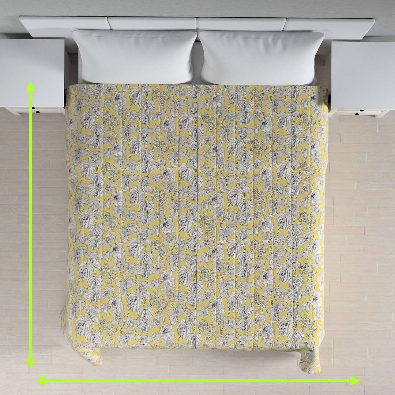 Quilted throw (vertical quilt pattern) in collection Brooklyn, fabric: 137-78