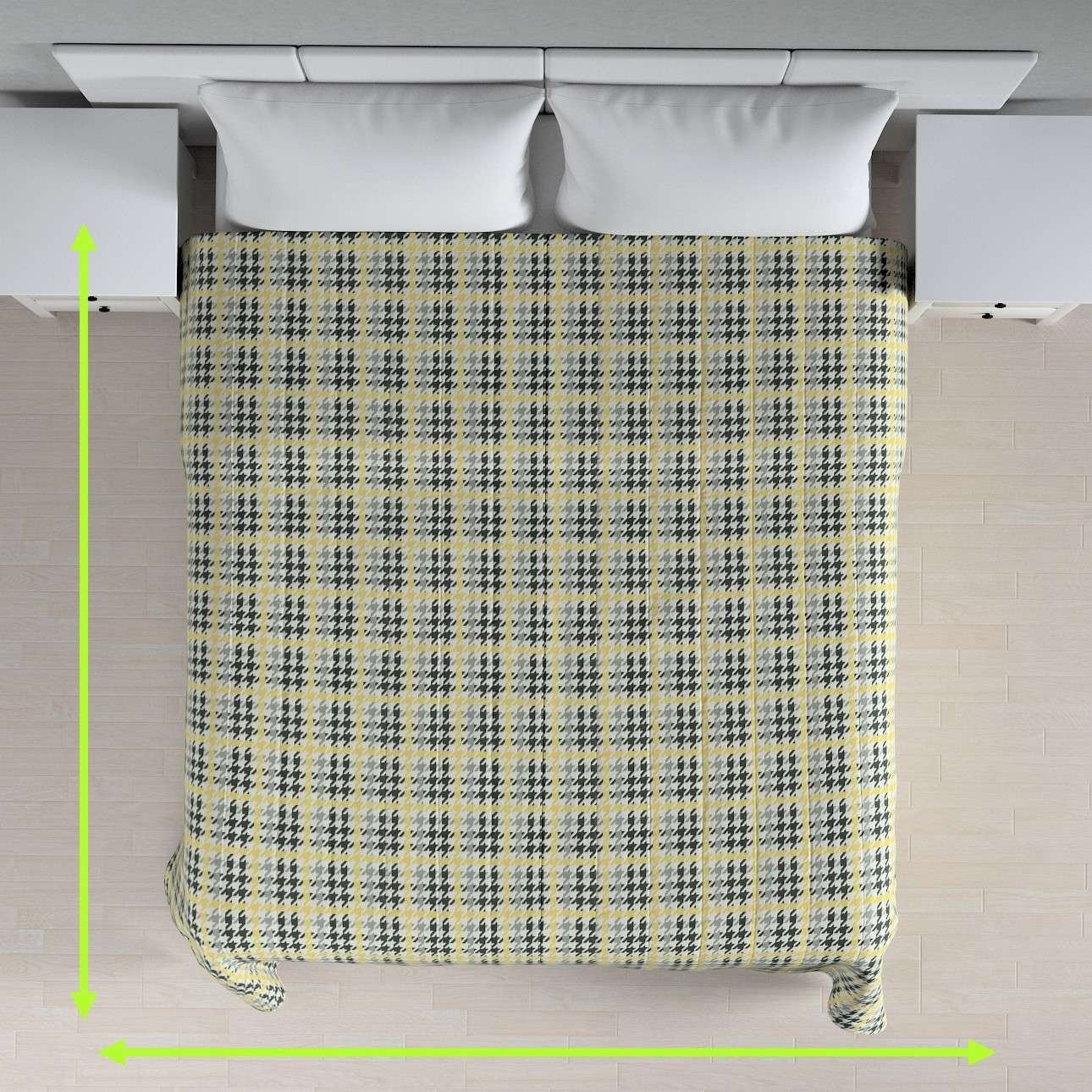Quilted throw (vertical quilt pattern) in collection Brooklyn, fabric: 137-79