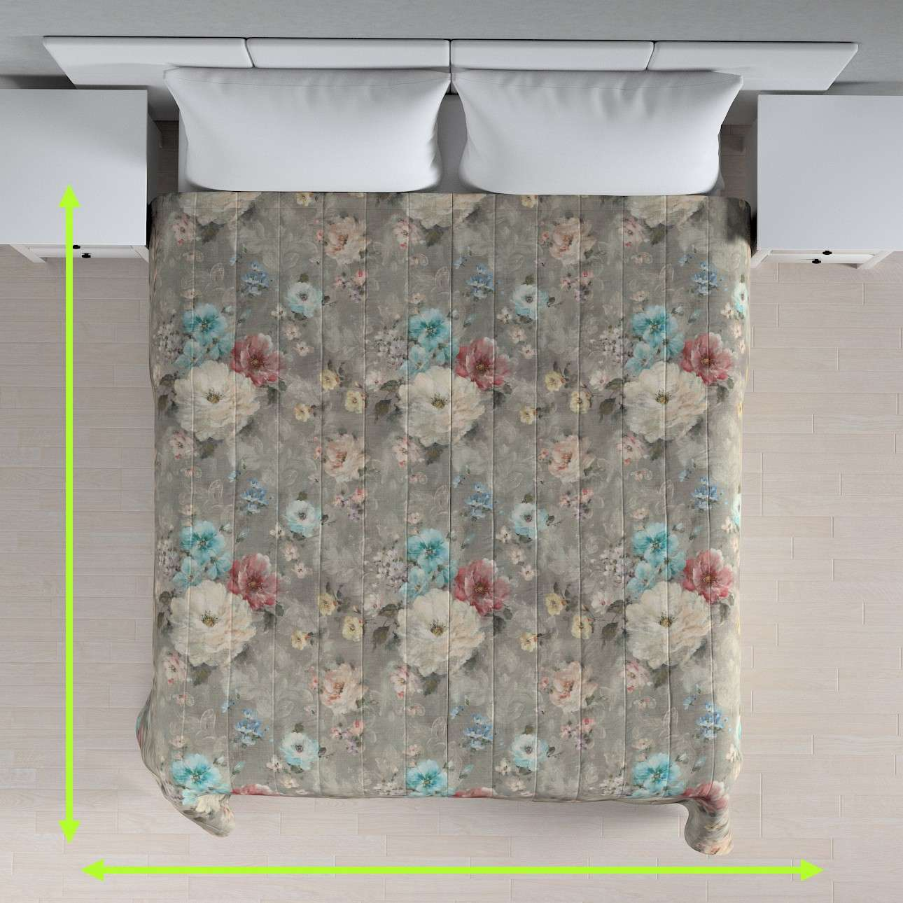 Quilted throw (vertical quilt pattern) in collection Monet, fabric: 137-81