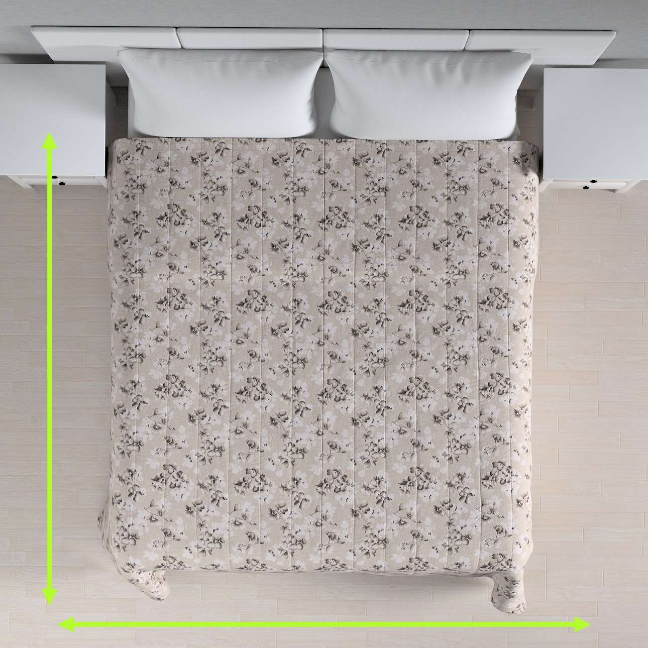 Quilted throw (vertical quilt pattern) in collection Rustica, fabric: 138-14