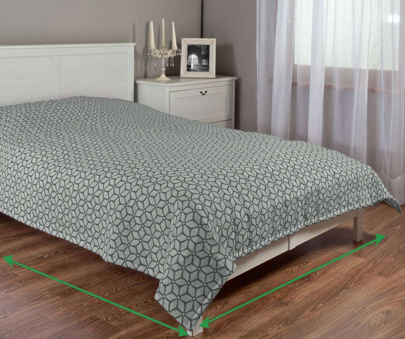 Quilted throw (vertical quilt pattern) in collection Rustica, fabric: 138-21