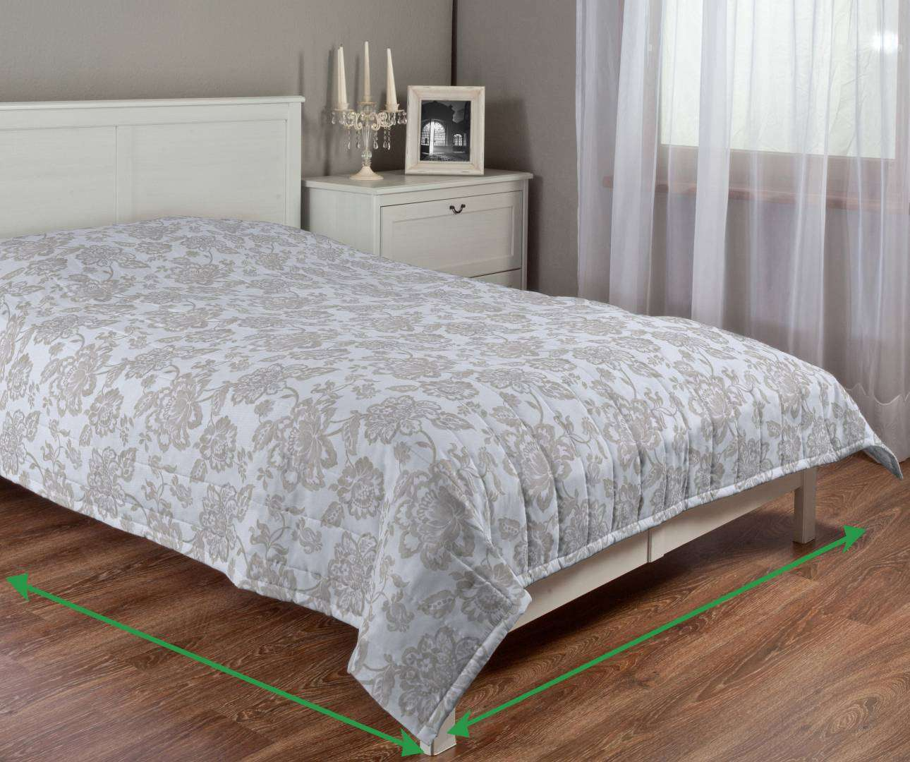 Quilted throw (vertical quilt pattern) in collection Rustica, fabric: 138-23