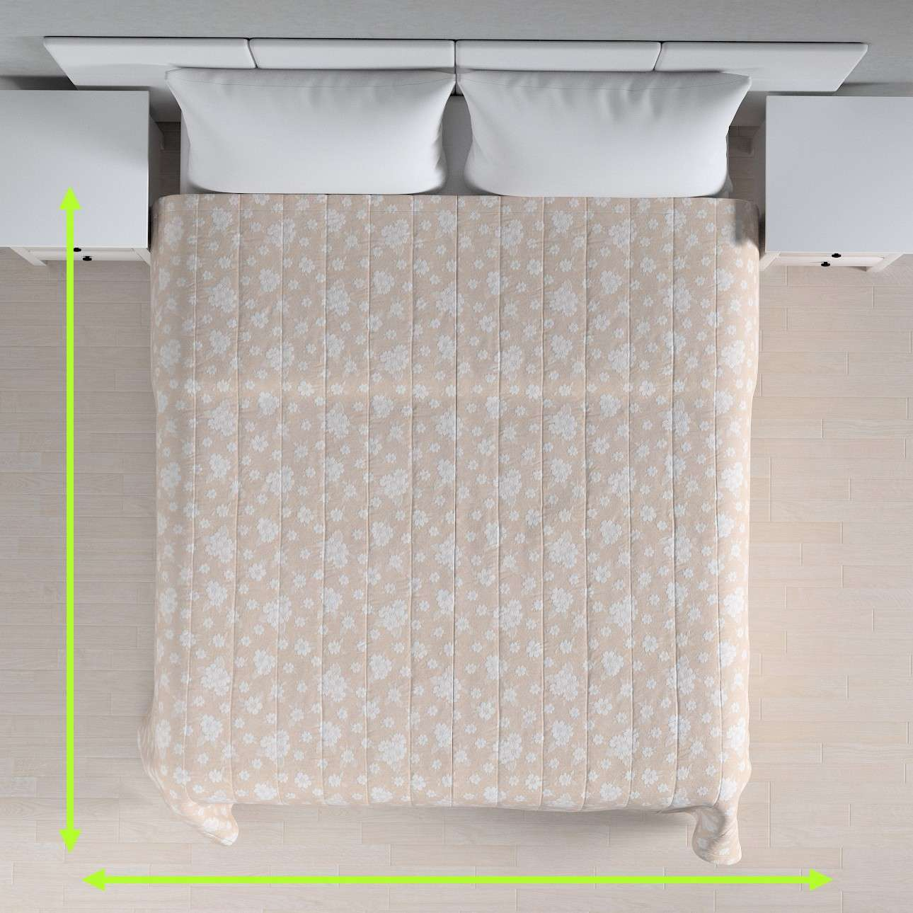 Quilted throw (vertical quilt pattern) in collection Rustica, fabric: 138-26