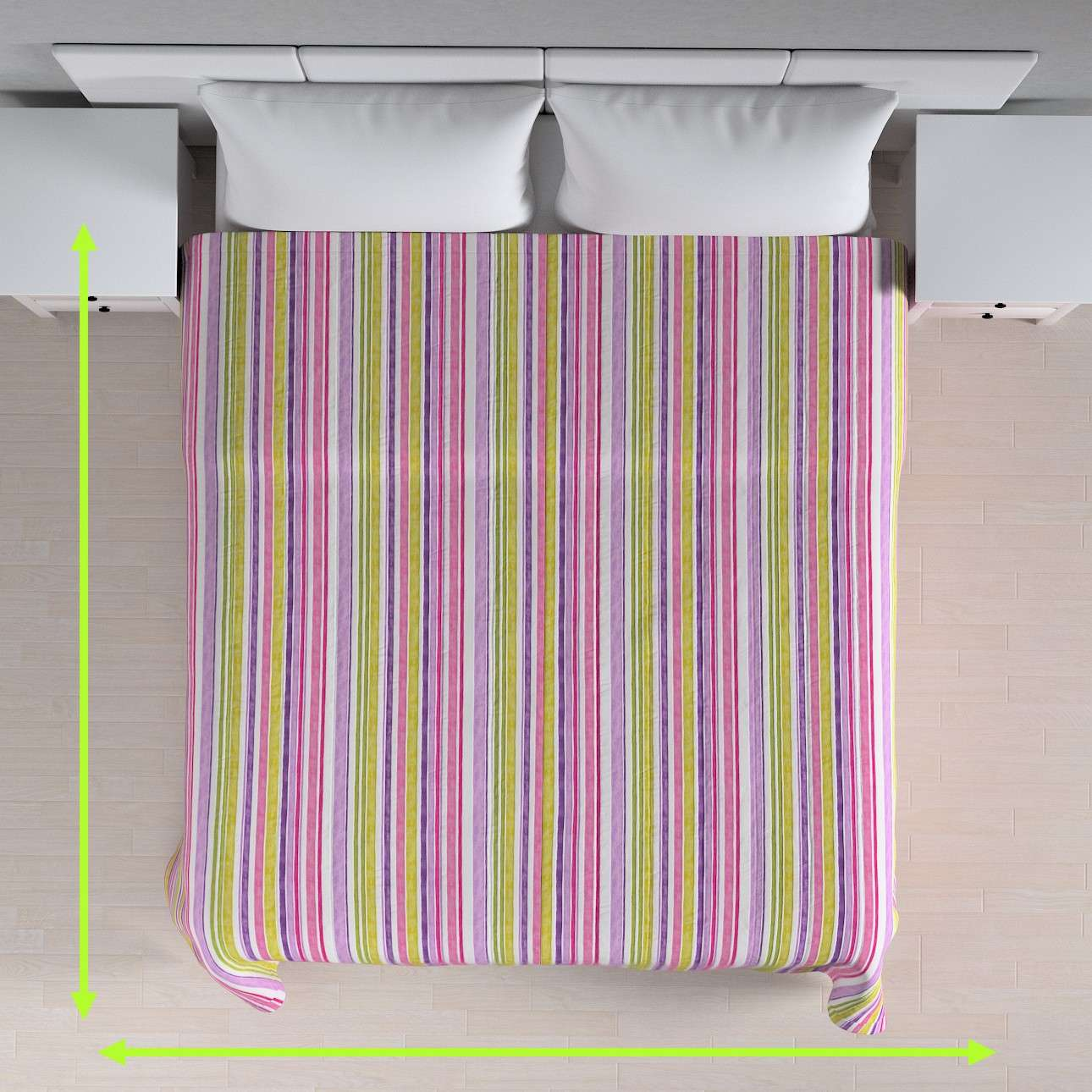 Stripe quilted throw in collection Monet, fabric: 140-01